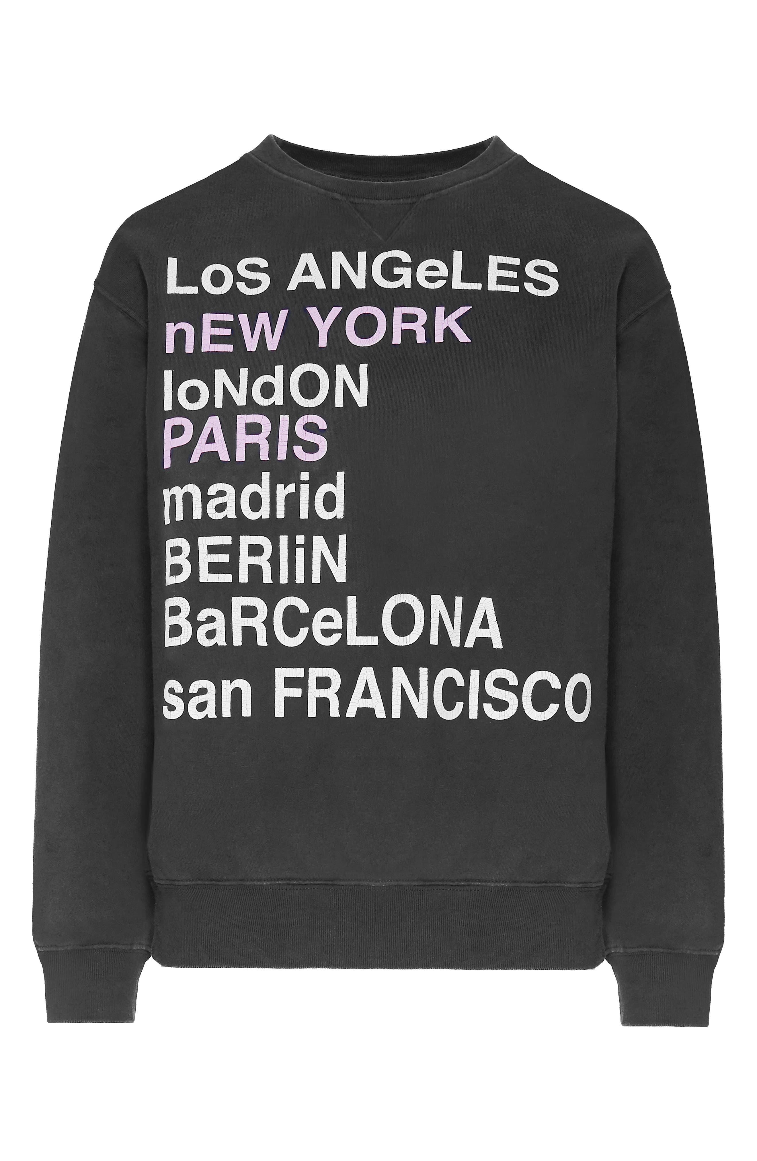 City Love Sweatshirt,                             Alternate thumbnail 4, color,                             CHARCOAL