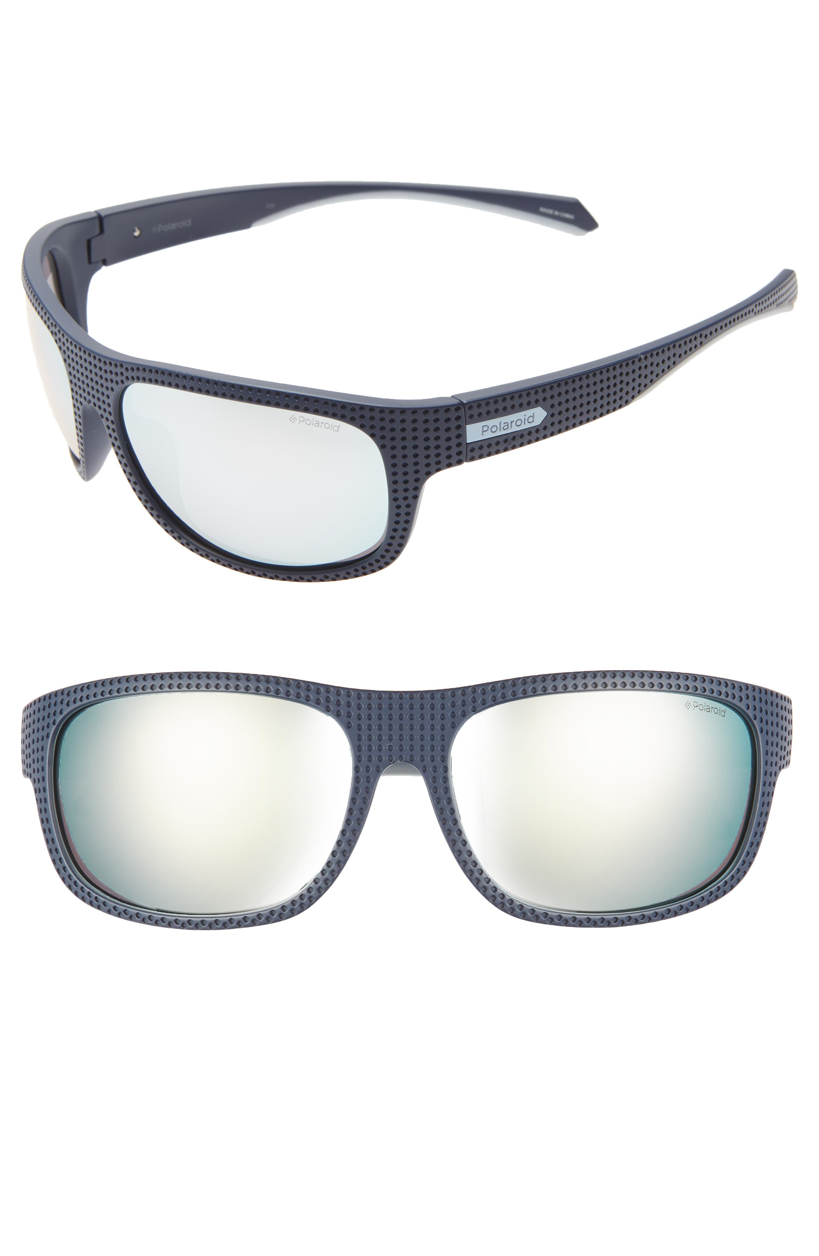POLAROID Plastic Wrap 63Mm Polarized Sunglasses - Blue