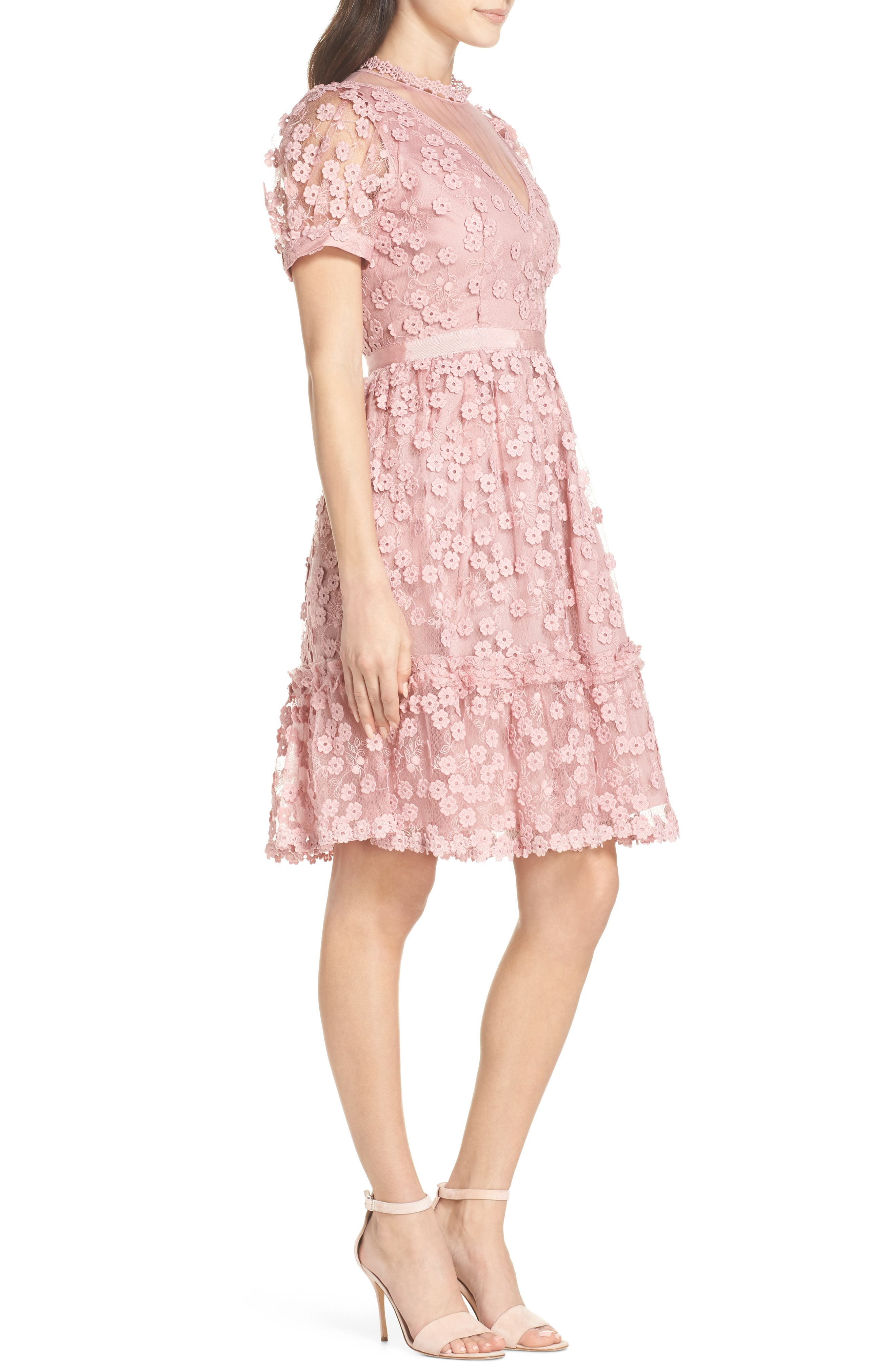 Caballo Lace Dress,                             Alternate thumbnail 3, color,                             655