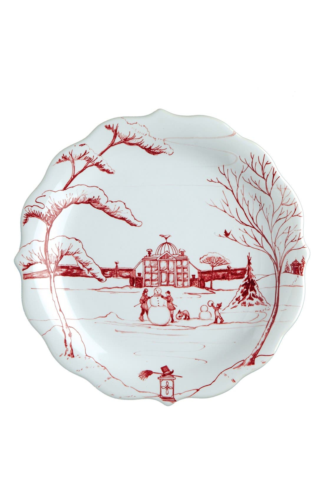 'Country Estate Ruby' Ceramic Party Plates,                             Alternate thumbnail 5, color,                             RUBY