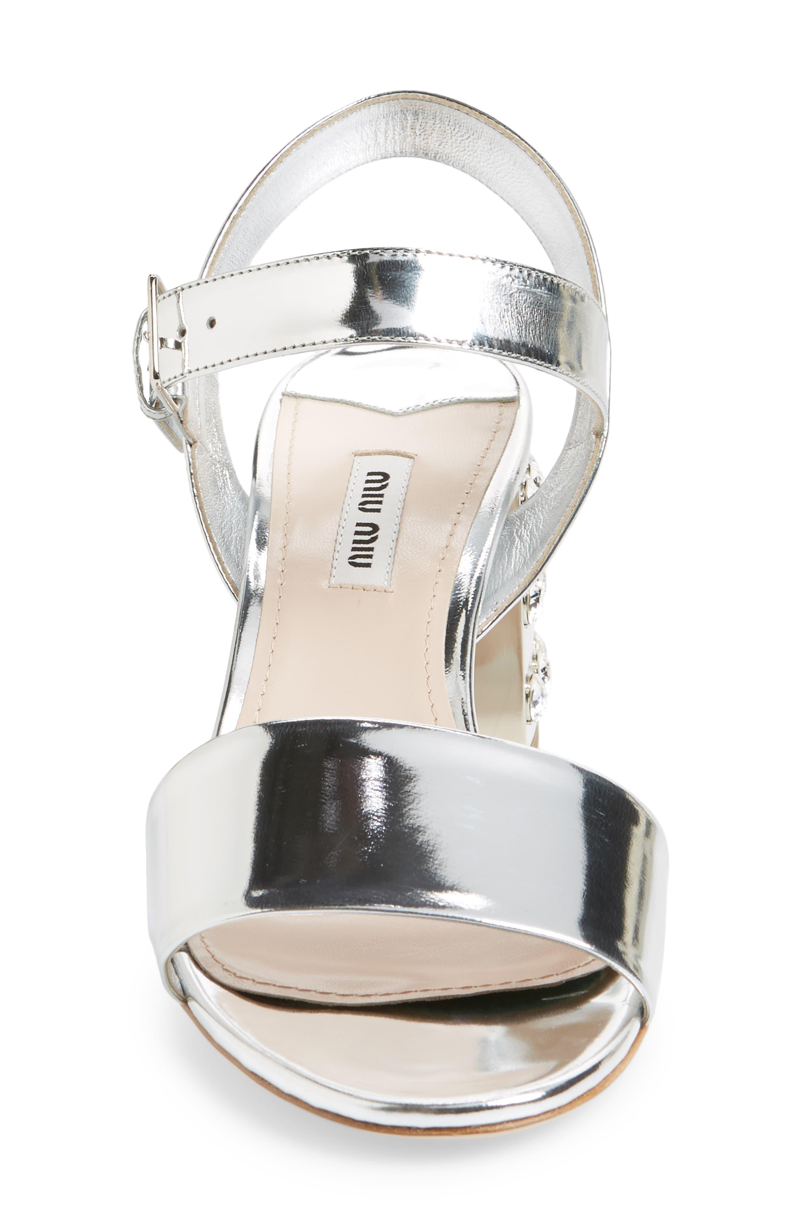 Crystal Embellished Block Heel Sandal,                             Alternate thumbnail 8, color,