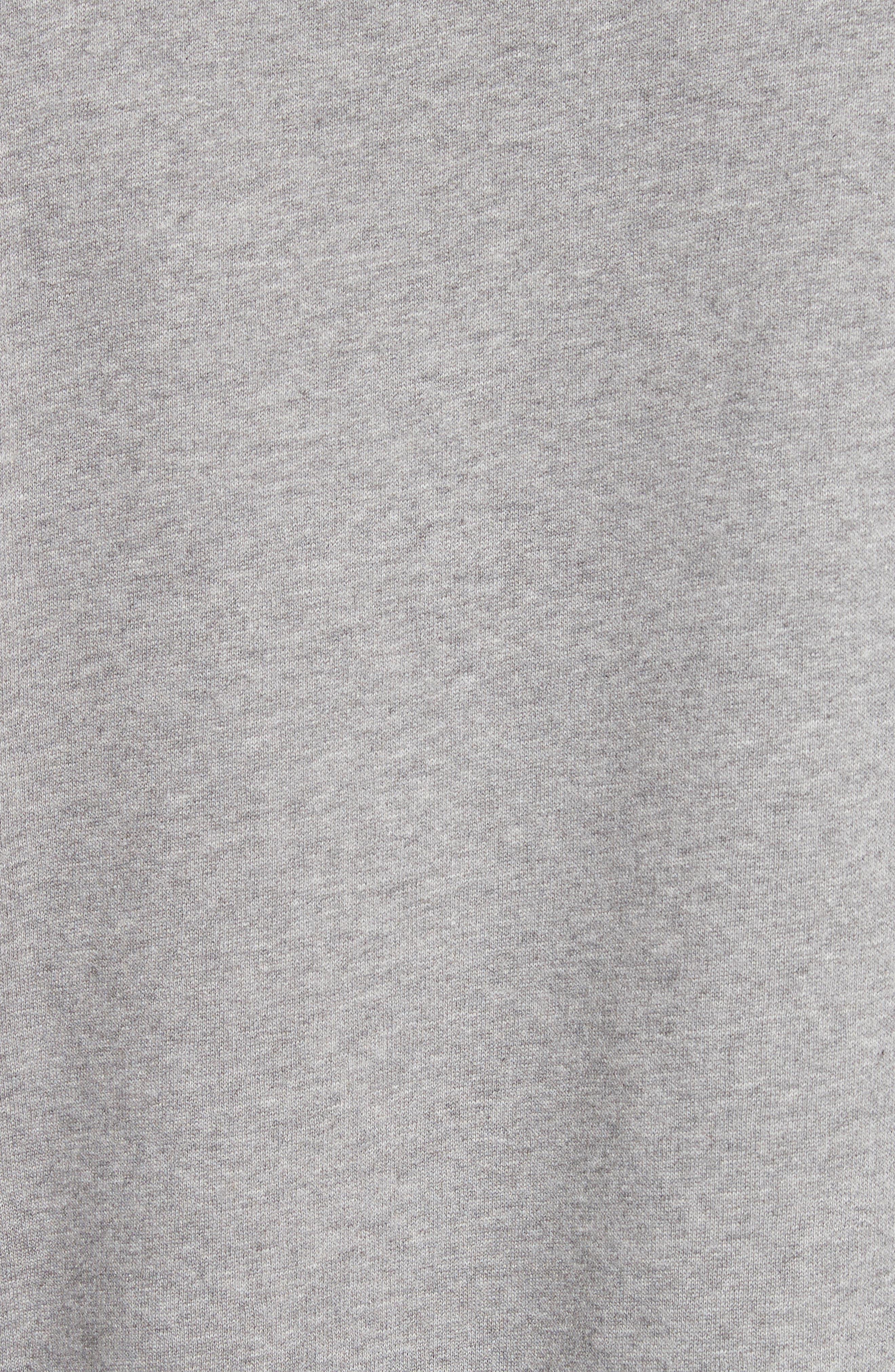Flogo Oversize Cotton Sweatshirt,                             Alternate thumbnail 5, color,                             LIGHT GREY MELANGE