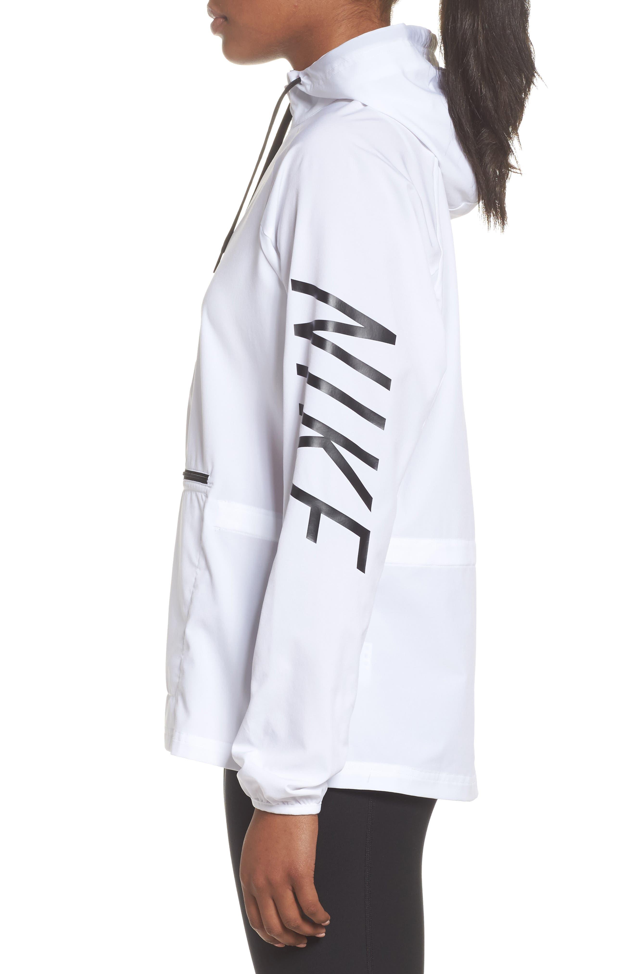 Flex Packable Hooded Training Jacket,                             Alternate thumbnail 4, color,                             100