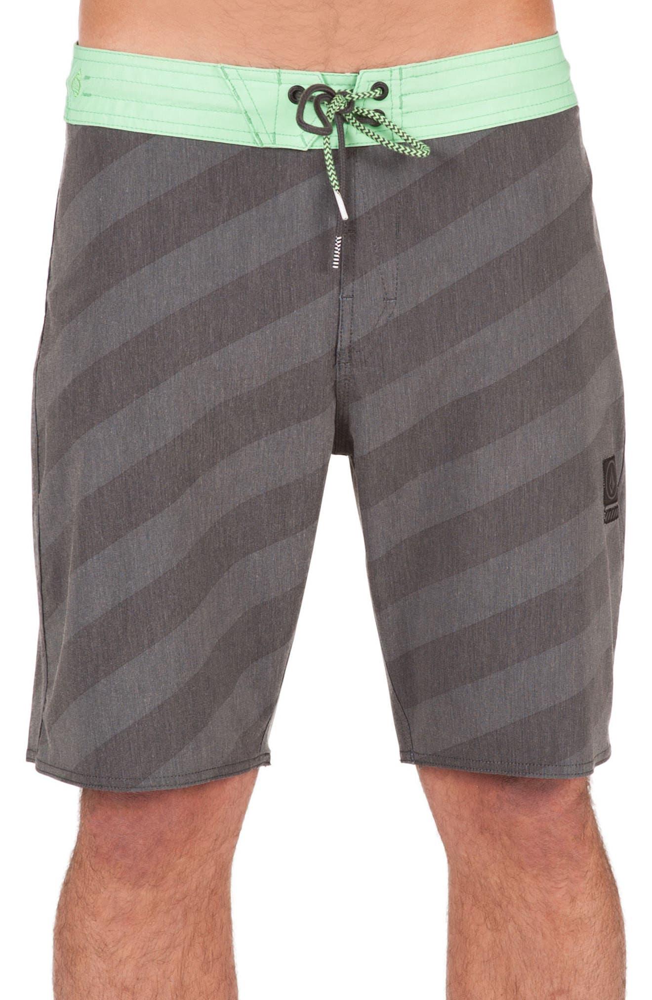 Stripey Slinger Board Shorts,                             Main thumbnail 2, color,