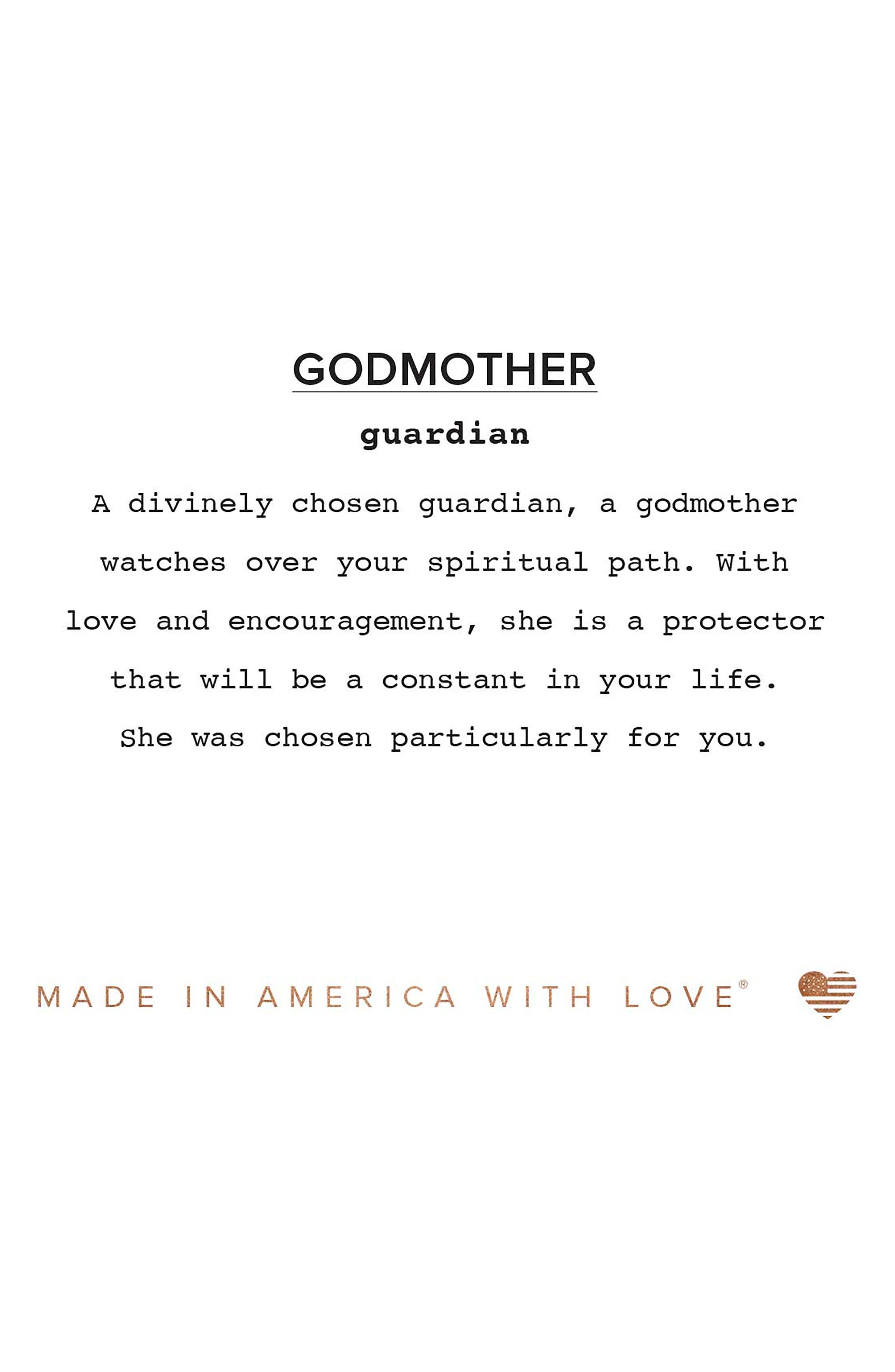Because I Love You Godmother Charm Bangle,                             Alternate thumbnail 3, color,                             040