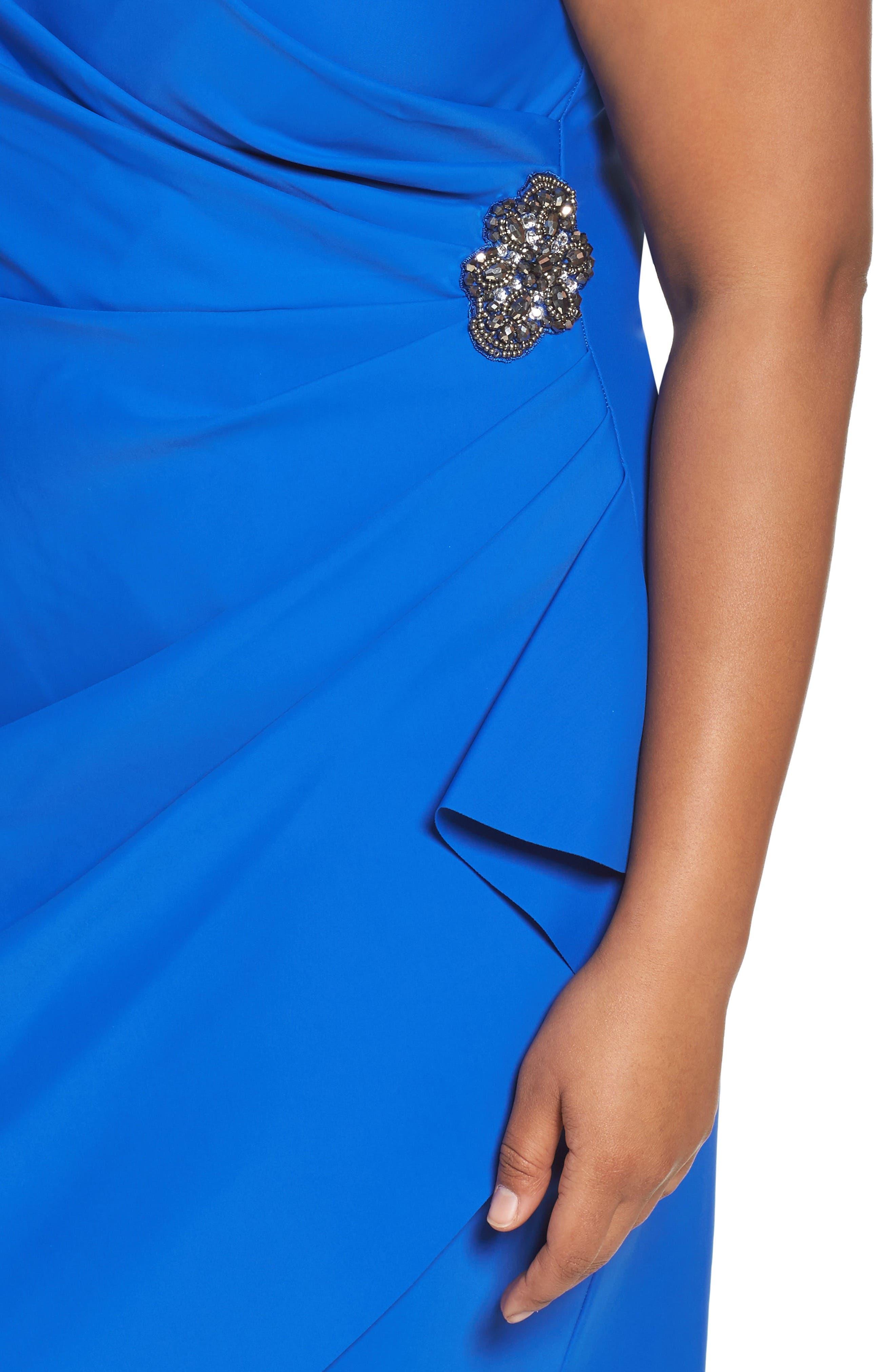 Embellished Surplice Sheath Dress,                             Alternate thumbnail 25, color,