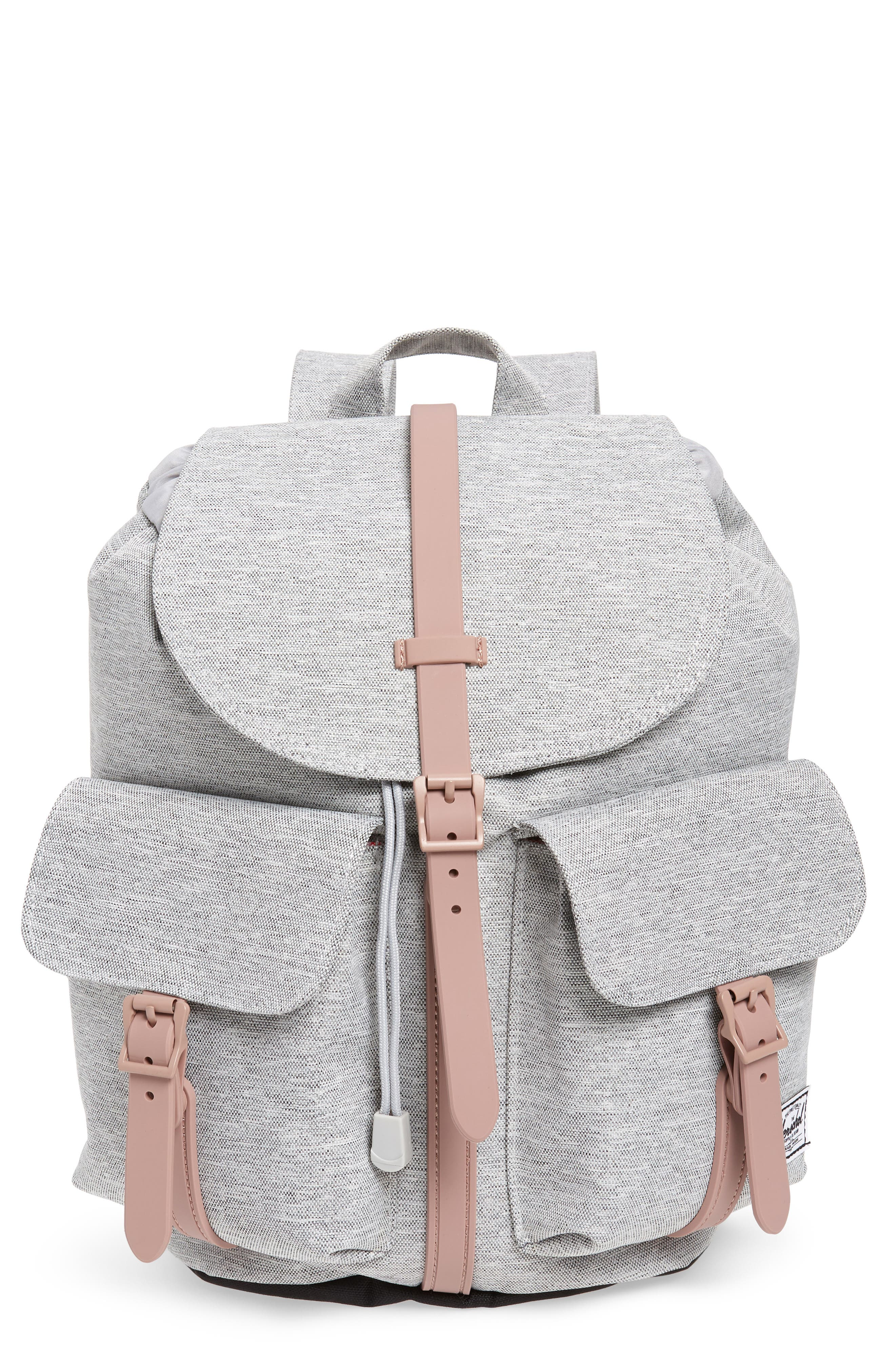 X-Small Dawson Backpack,                         Main,                         color, LIGHT GREY/ ASH ROSE/ BLACK