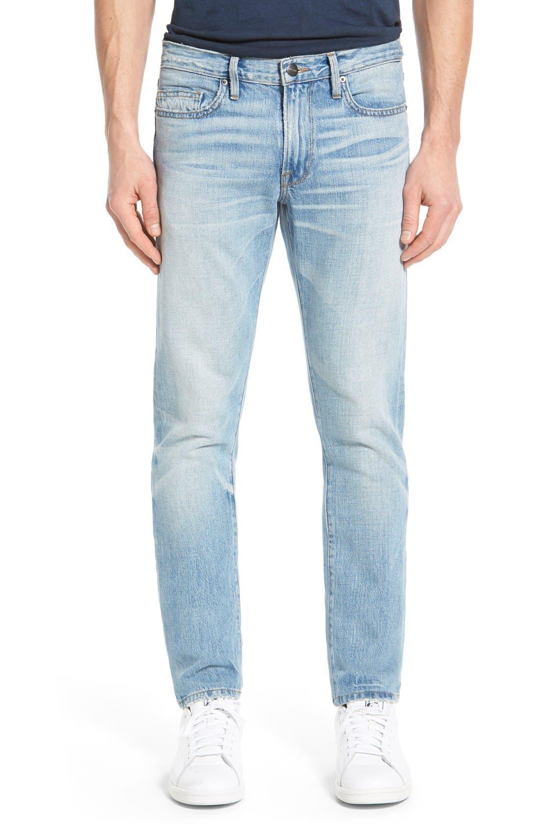 'L'Homme' Slim Fit Jeans,                             Main thumbnail 2, color,