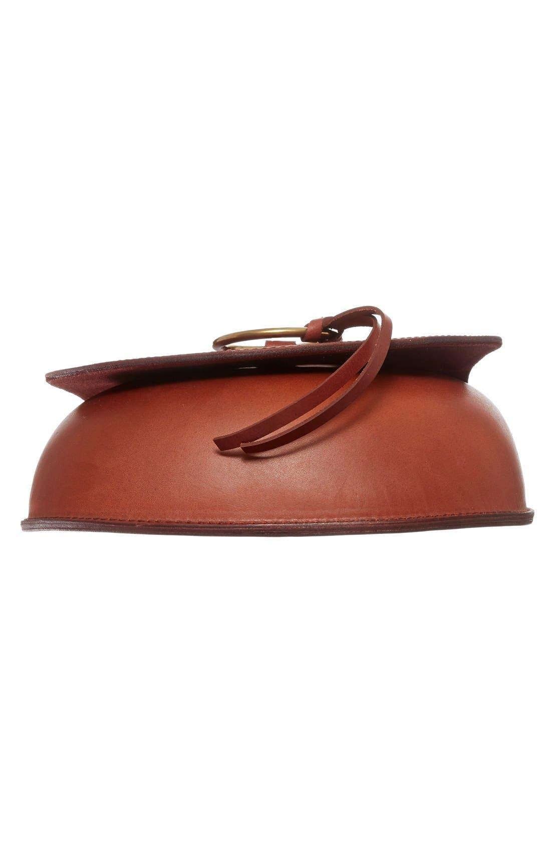 O-Ring Leather Saddle Bag,                             Alternate thumbnail 6, color,                             200