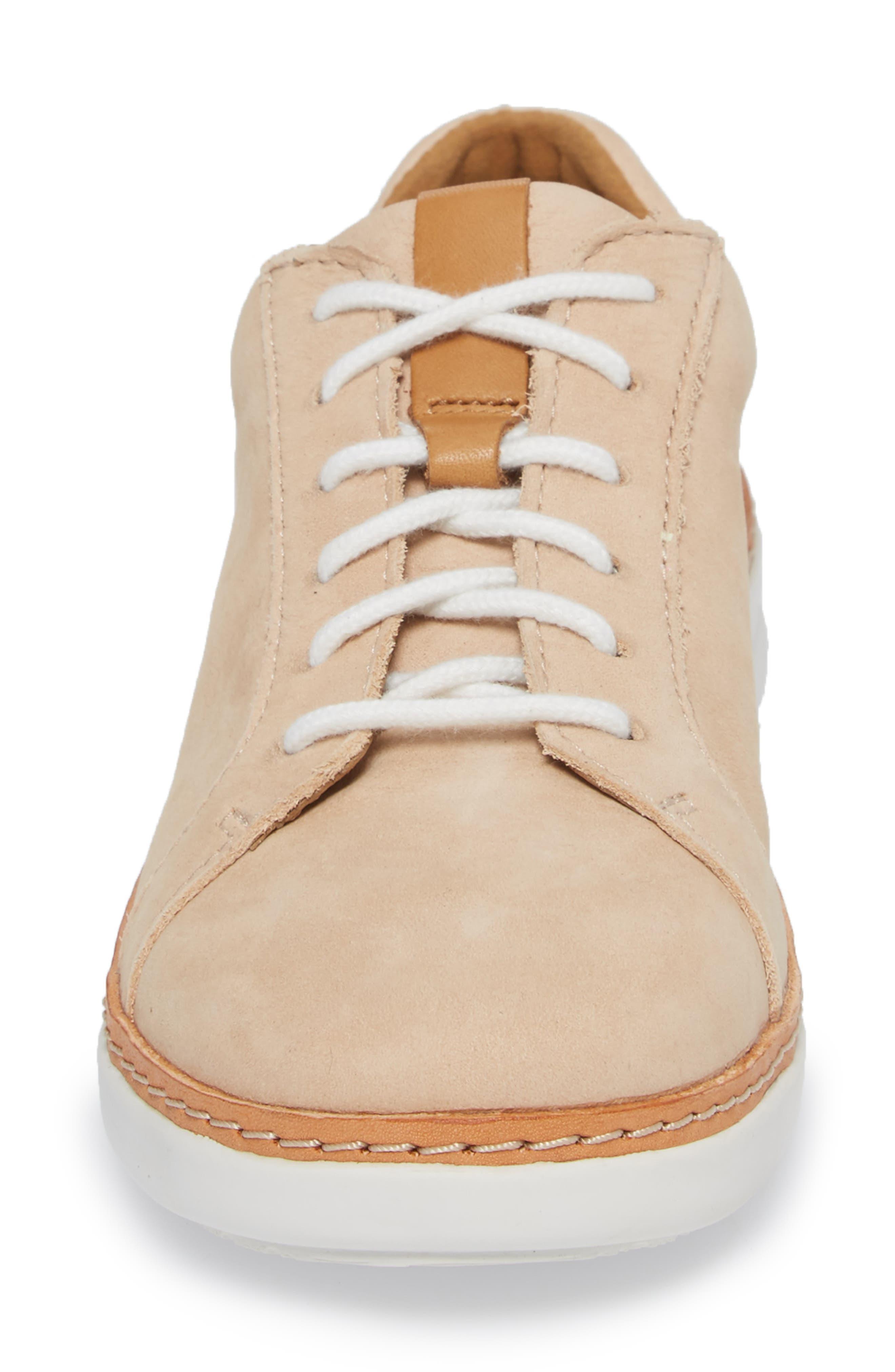Amberlee Rosa Sneaker,                             Alternate thumbnail 4, color,                             NUDE NUBUCK