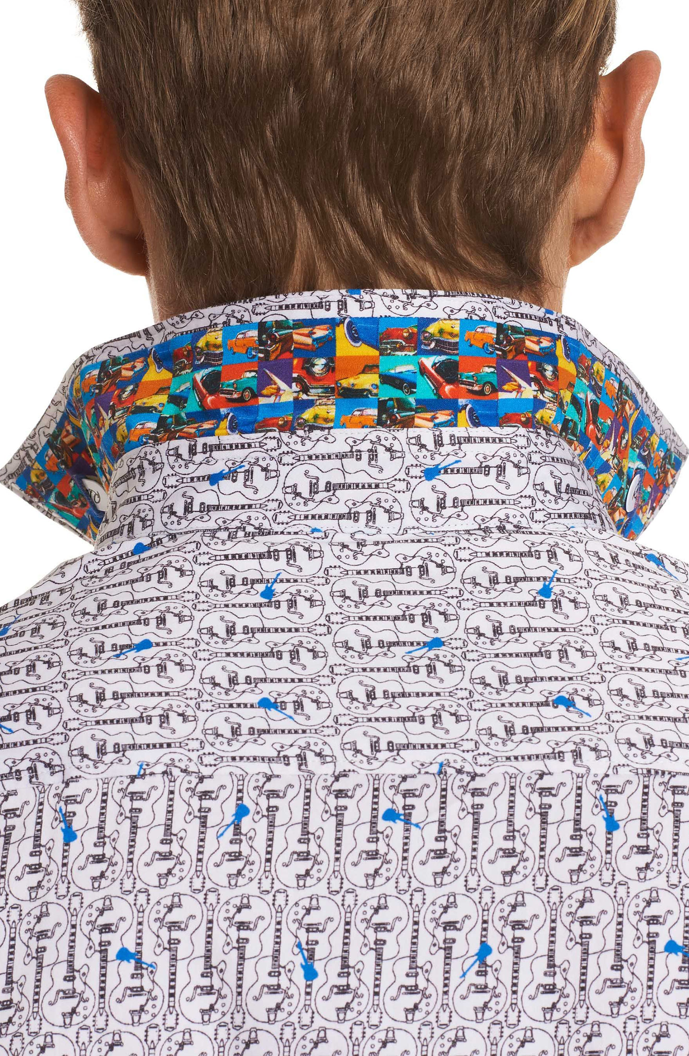 Cuban Tres Classic Fit Print Sport Shirt,                             Alternate thumbnail 3, color,