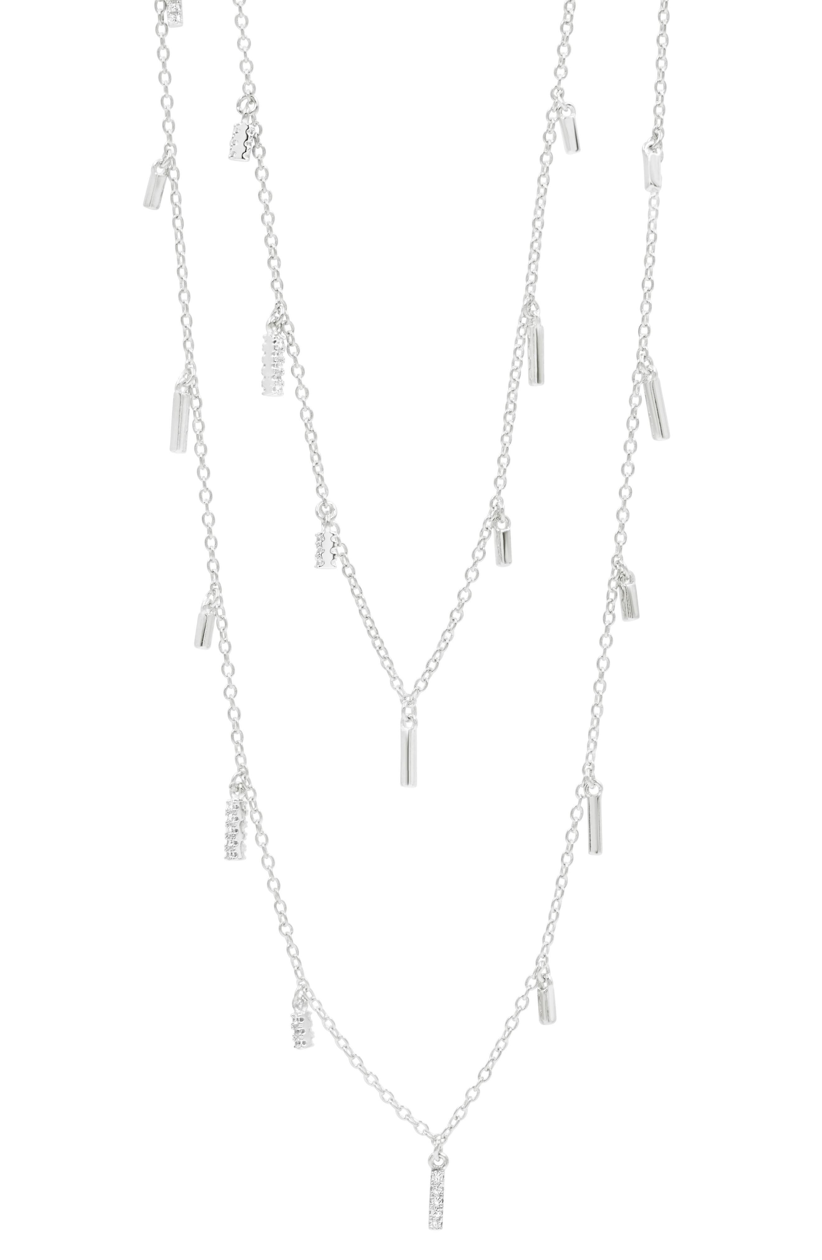 Radiance Multistrand Necklace,                             Main thumbnail 1, color,                             SILVER