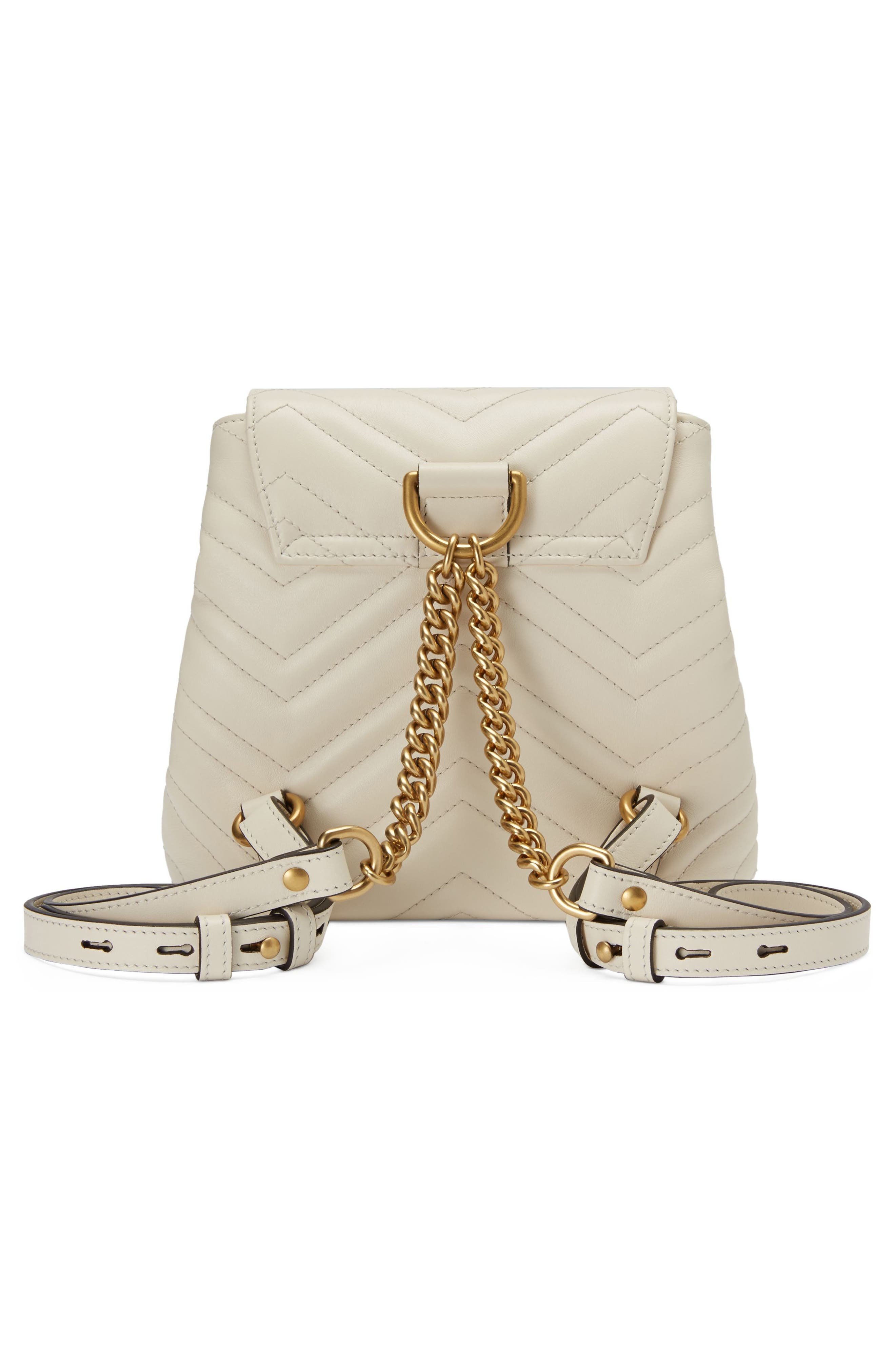 GUCCI,                             GG Marmont 2.0 Matelassé Leather Mini Backpack,                             Alternate thumbnail 2, color,                             MYSTIC WHITE