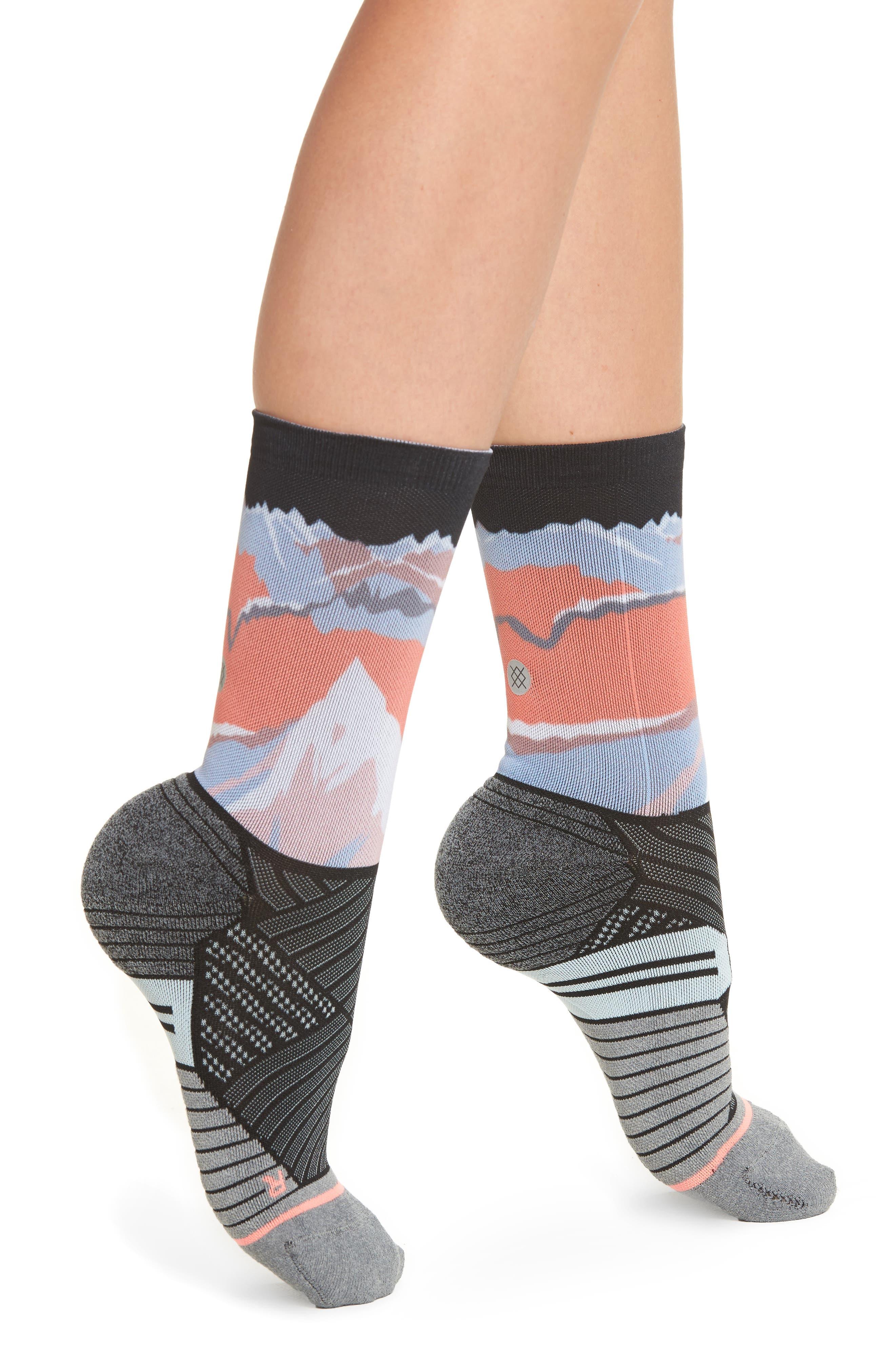 Valley Crew Running Socks,                             Main thumbnail 1, color,
