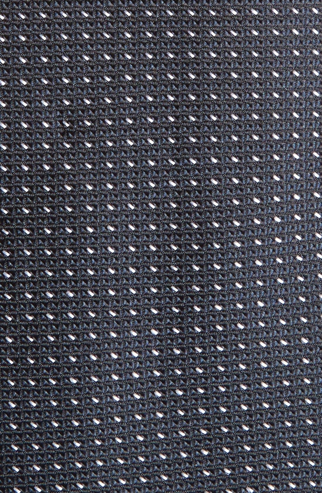 Dot Silk Tie,                             Alternate thumbnail 2, color,                             001