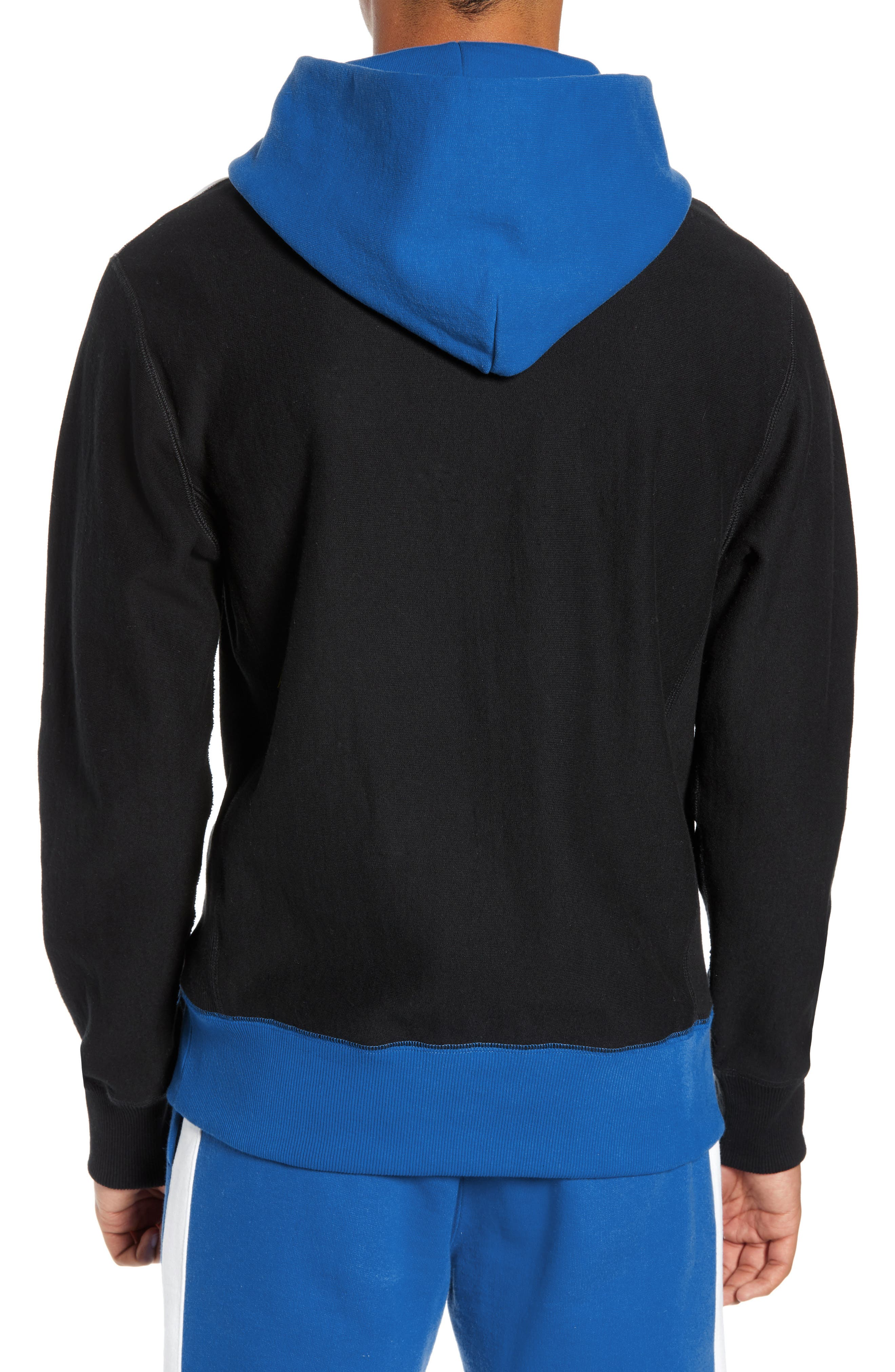 Regular Fit Colorblock Hoodie,                             Alternate thumbnail 2, color,                             BLUE