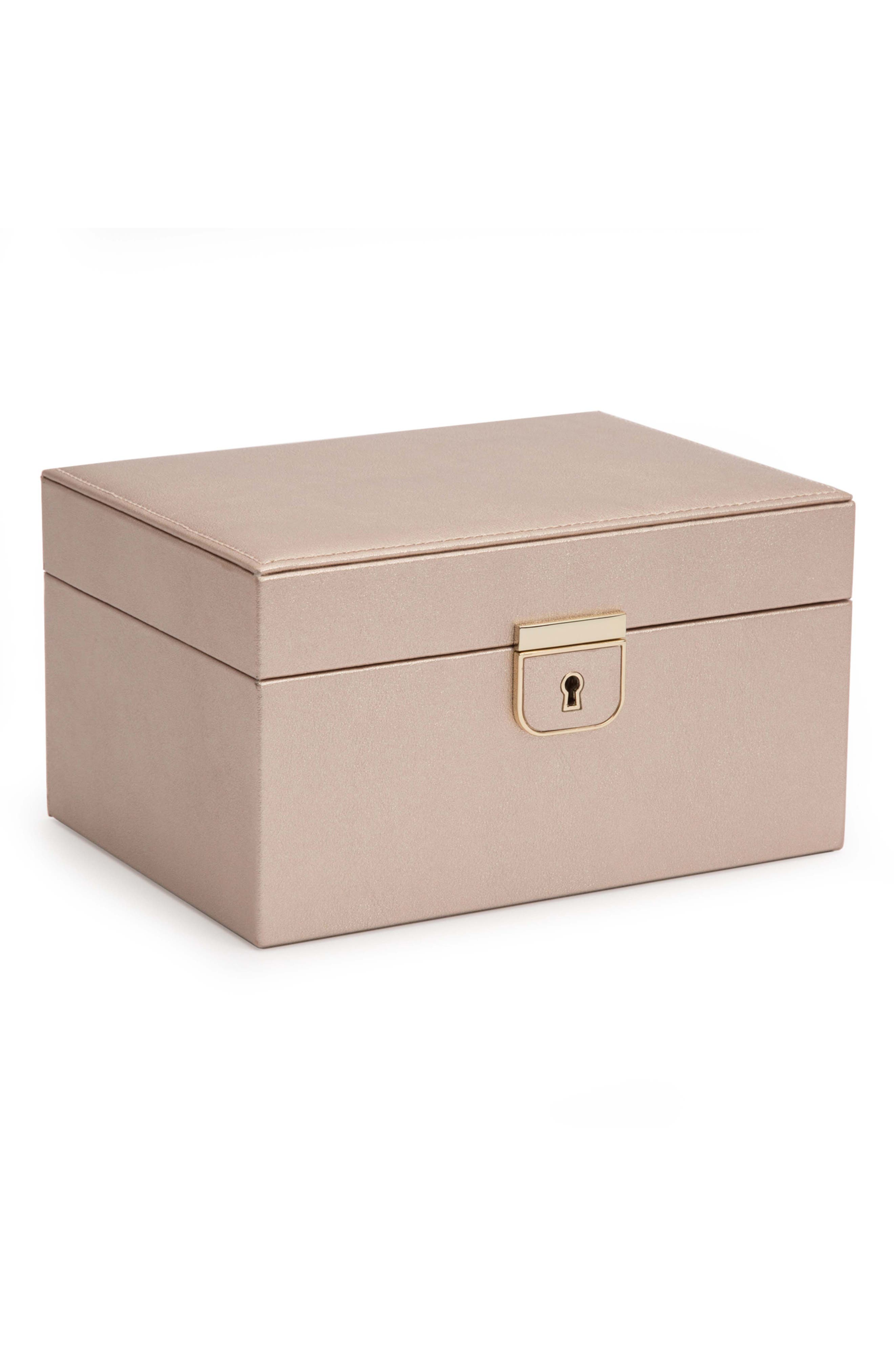 Palermo Small Jewelry Box,                             Alternate thumbnail 4, color,                             ROSE GOLD