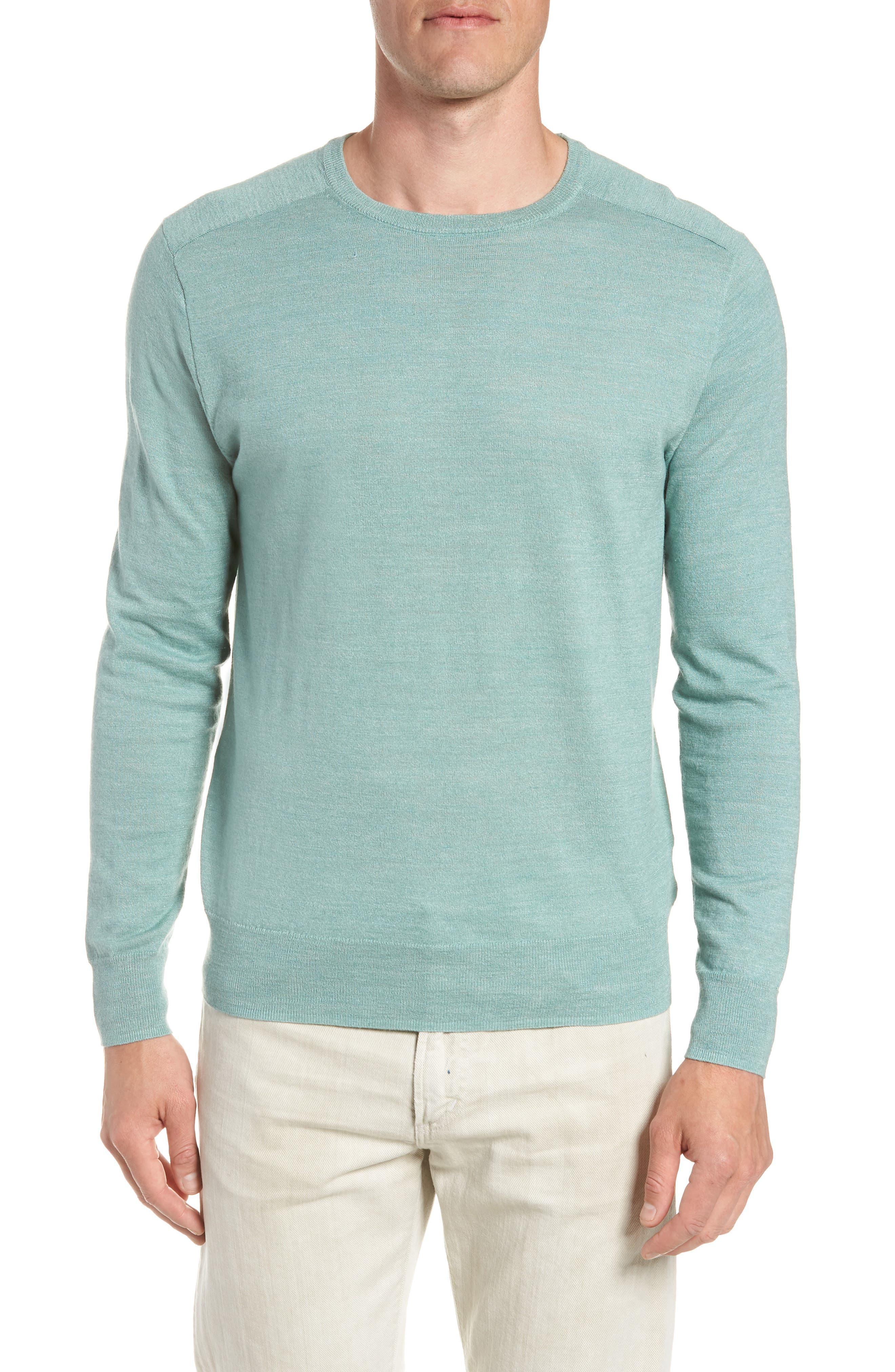 Cotton Blend Crewneck Sweater,                             Main thumbnail 2, color,