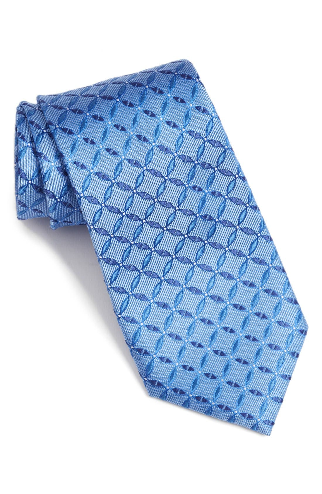 Geometric Silk Tie,                             Main thumbnail 1, color,                             400