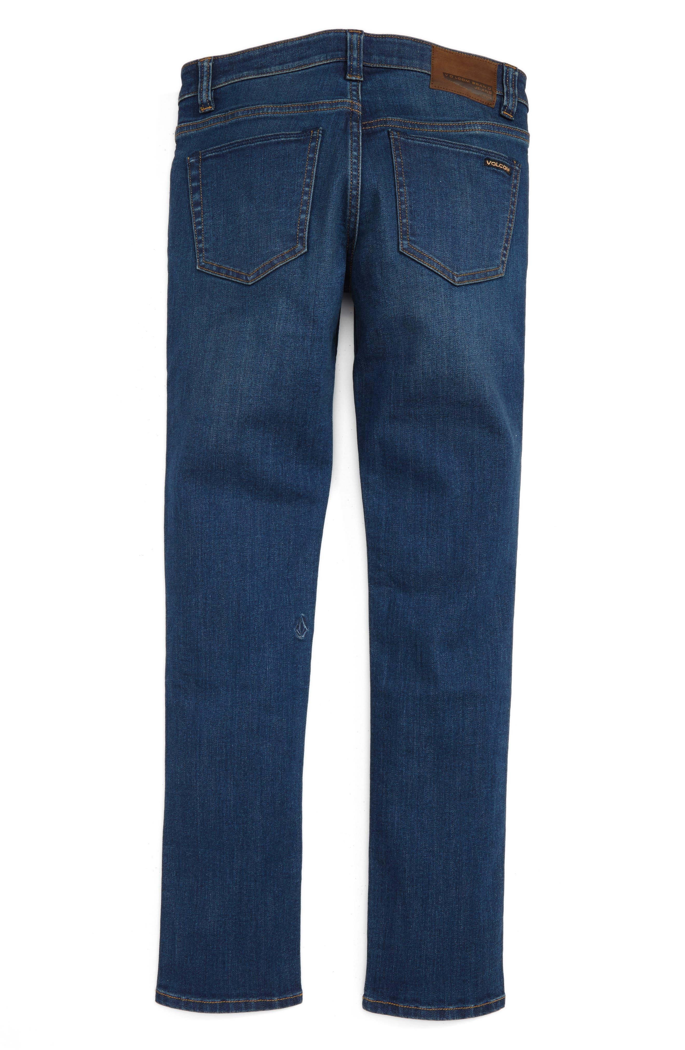 'Solver' Straight Leg Denim Jeans,                             Alternate thumbnail 9, color,