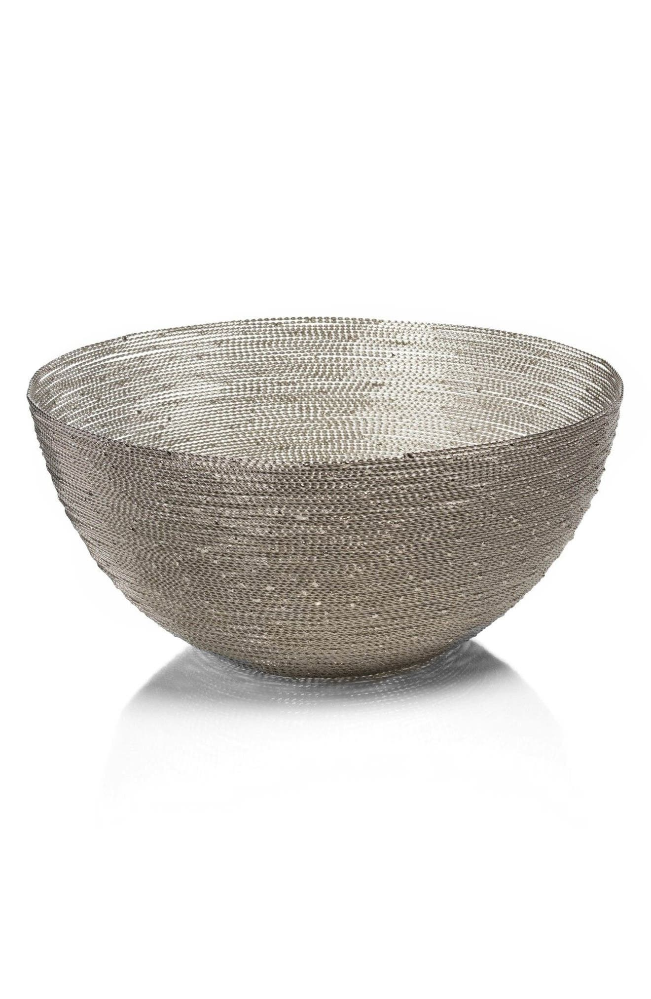 Zulu Round Woven Wire Basket,                             Main thumbnail 1, color,                             040