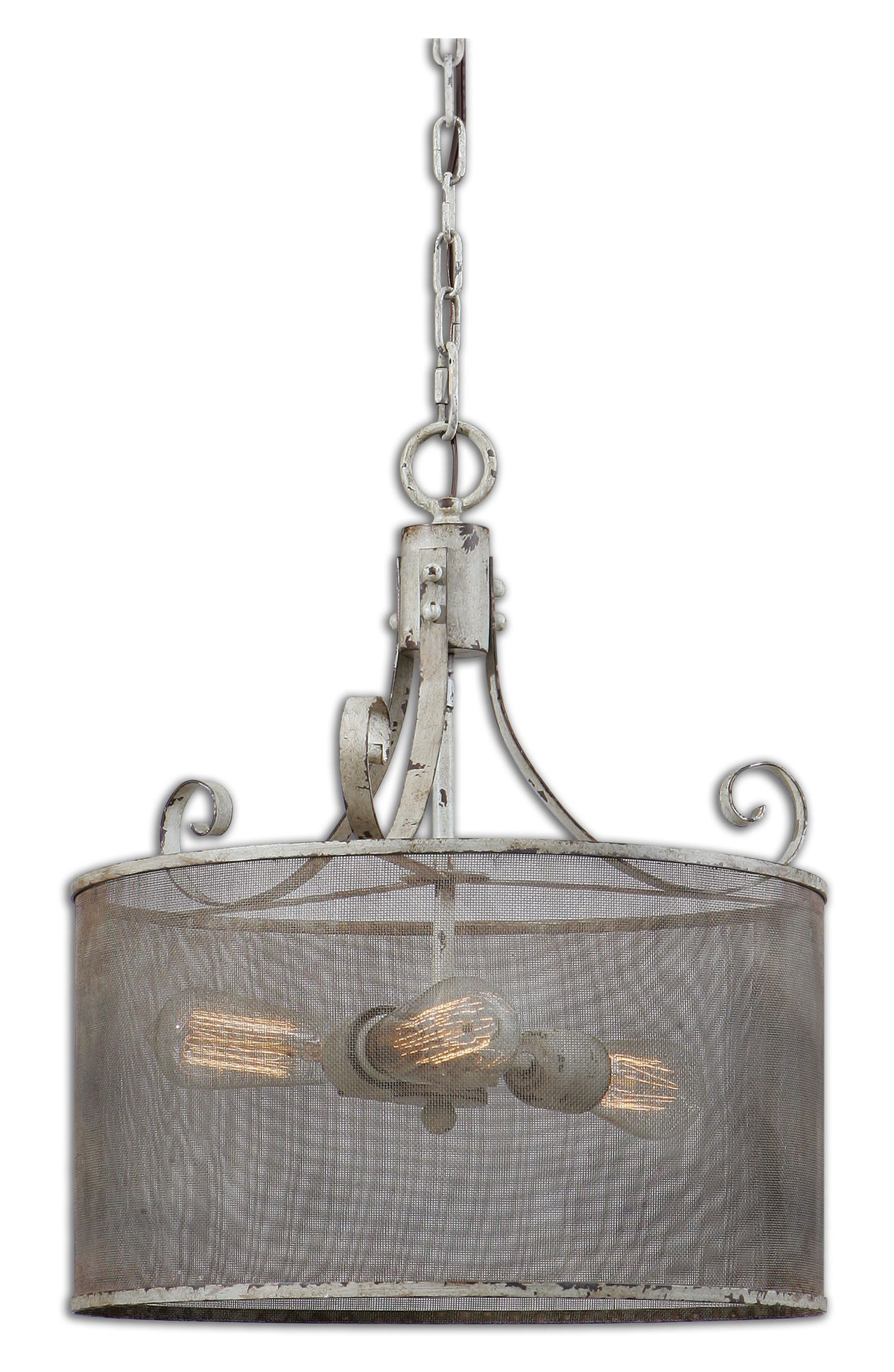 Pontoise Three Light Drum Pendant Lamp,                             Main thumbnail 1, color,                             900