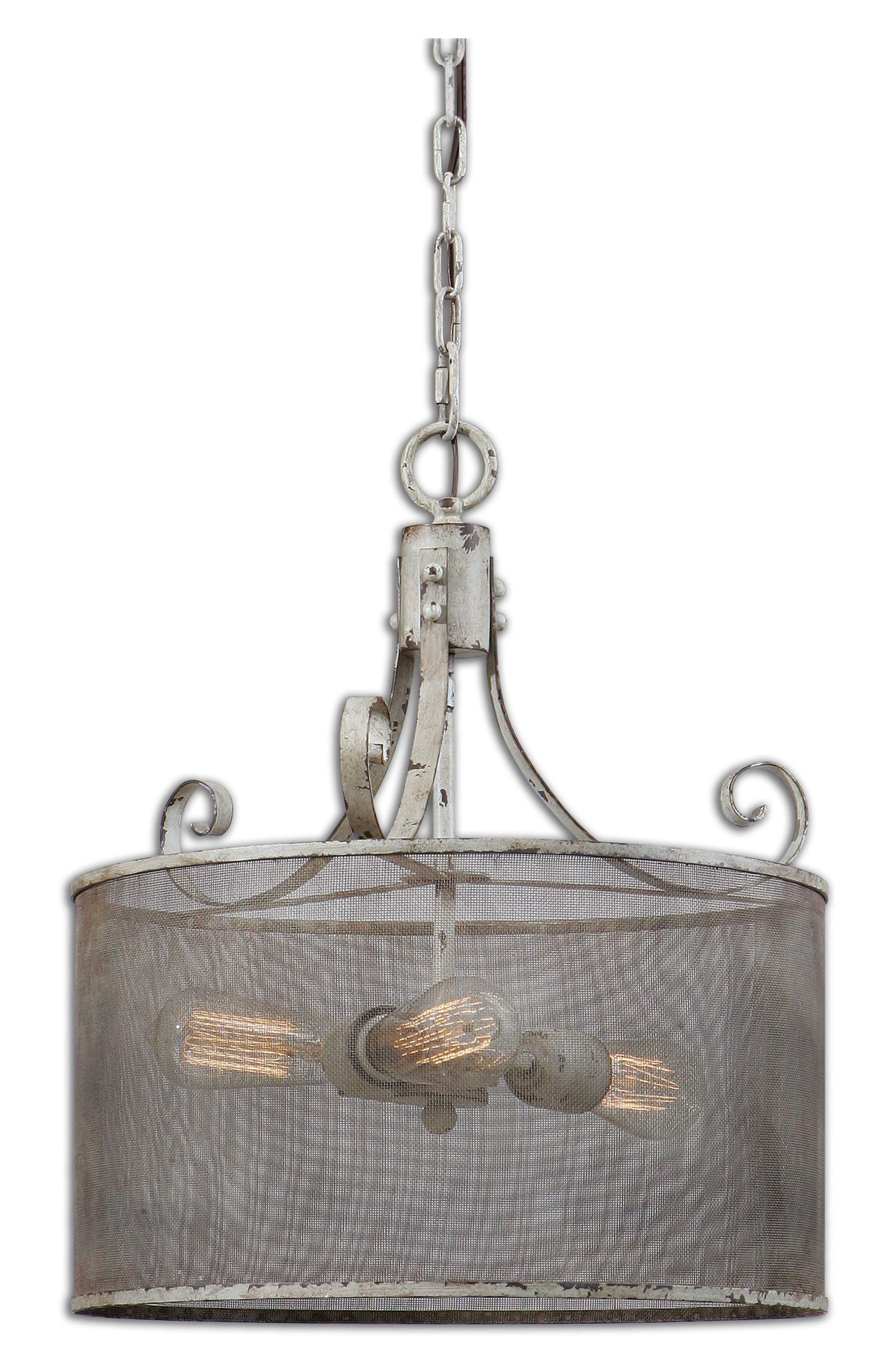 Pontoise Three Light Drum Pendant Lamp,                         Main,                         color, 900