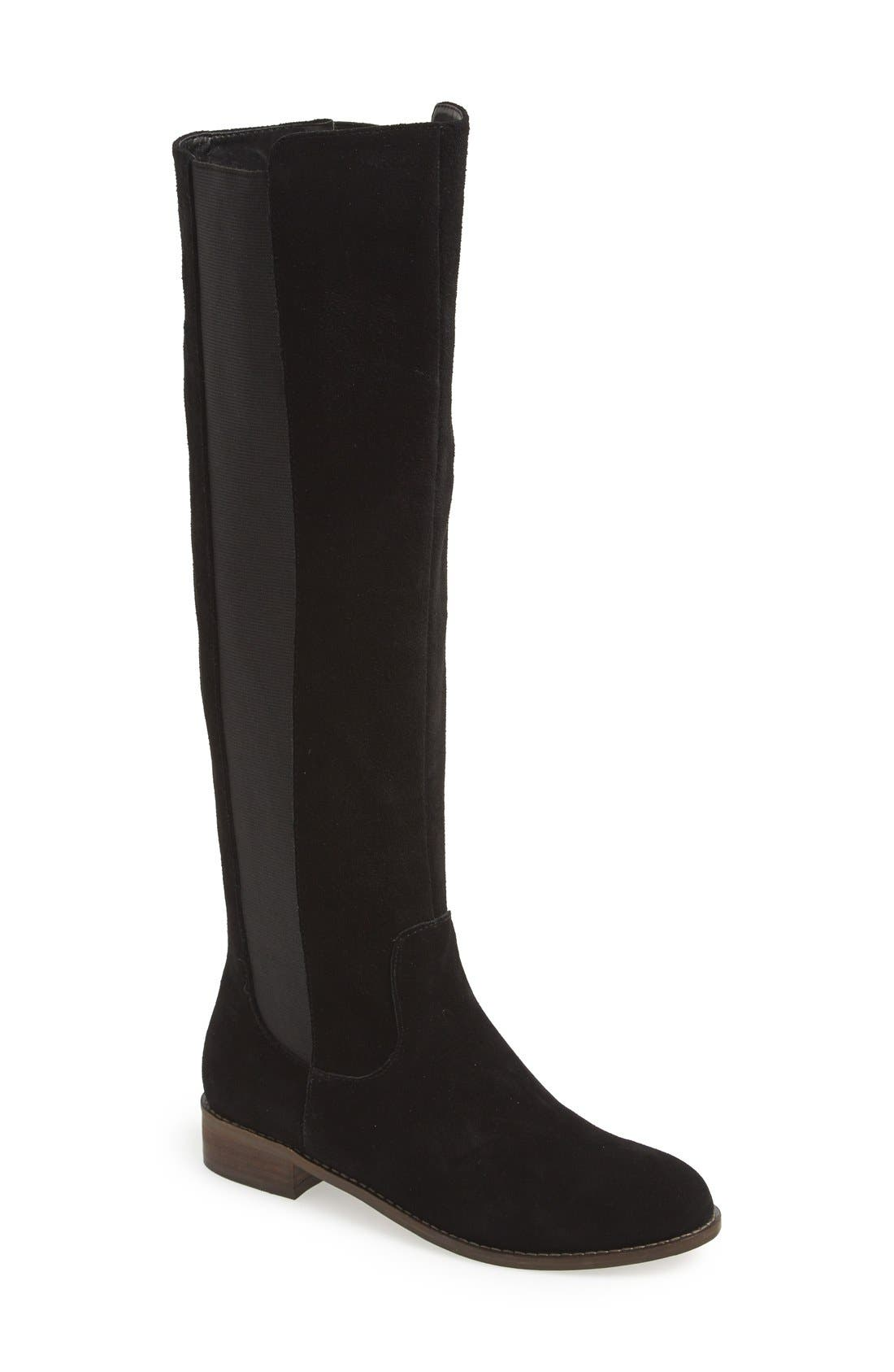 'Timber' Suede Knee High Boot,                             Main thumbnail 1, color,                             001