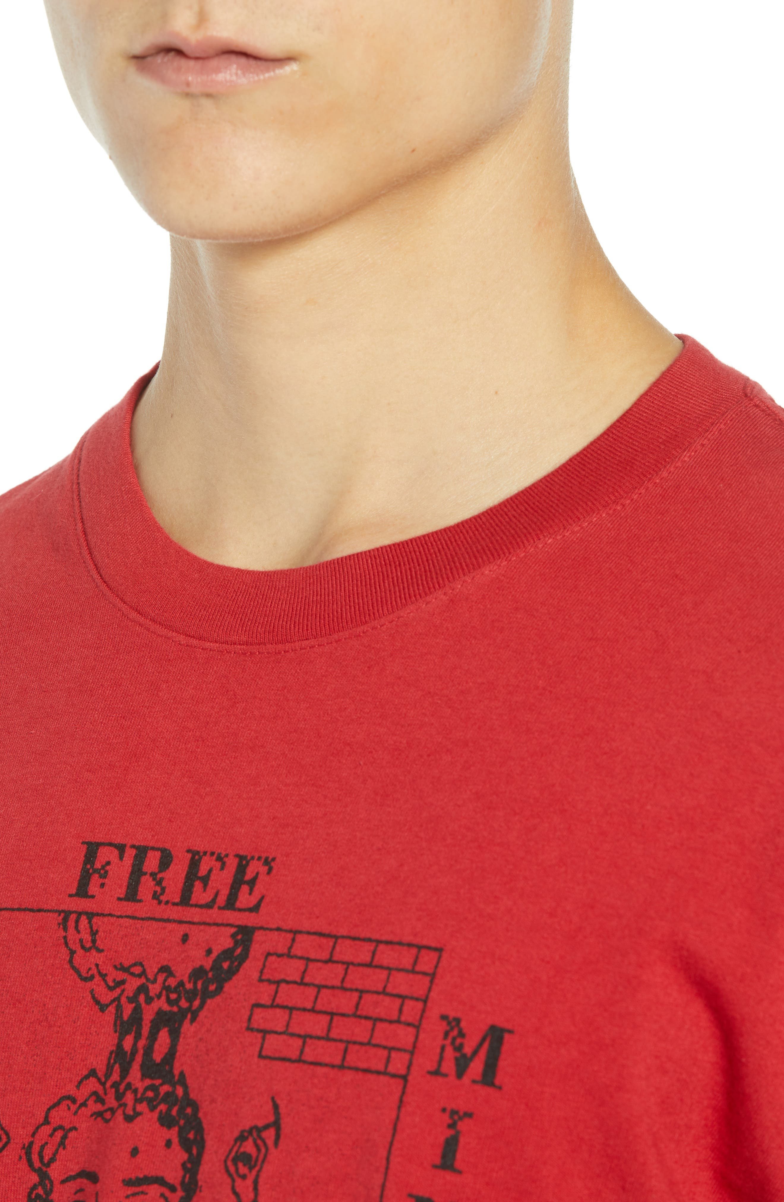 Free Your Mind Box T-Shirt,                             Alternate thumbnail 4, color,                             FIRE RED