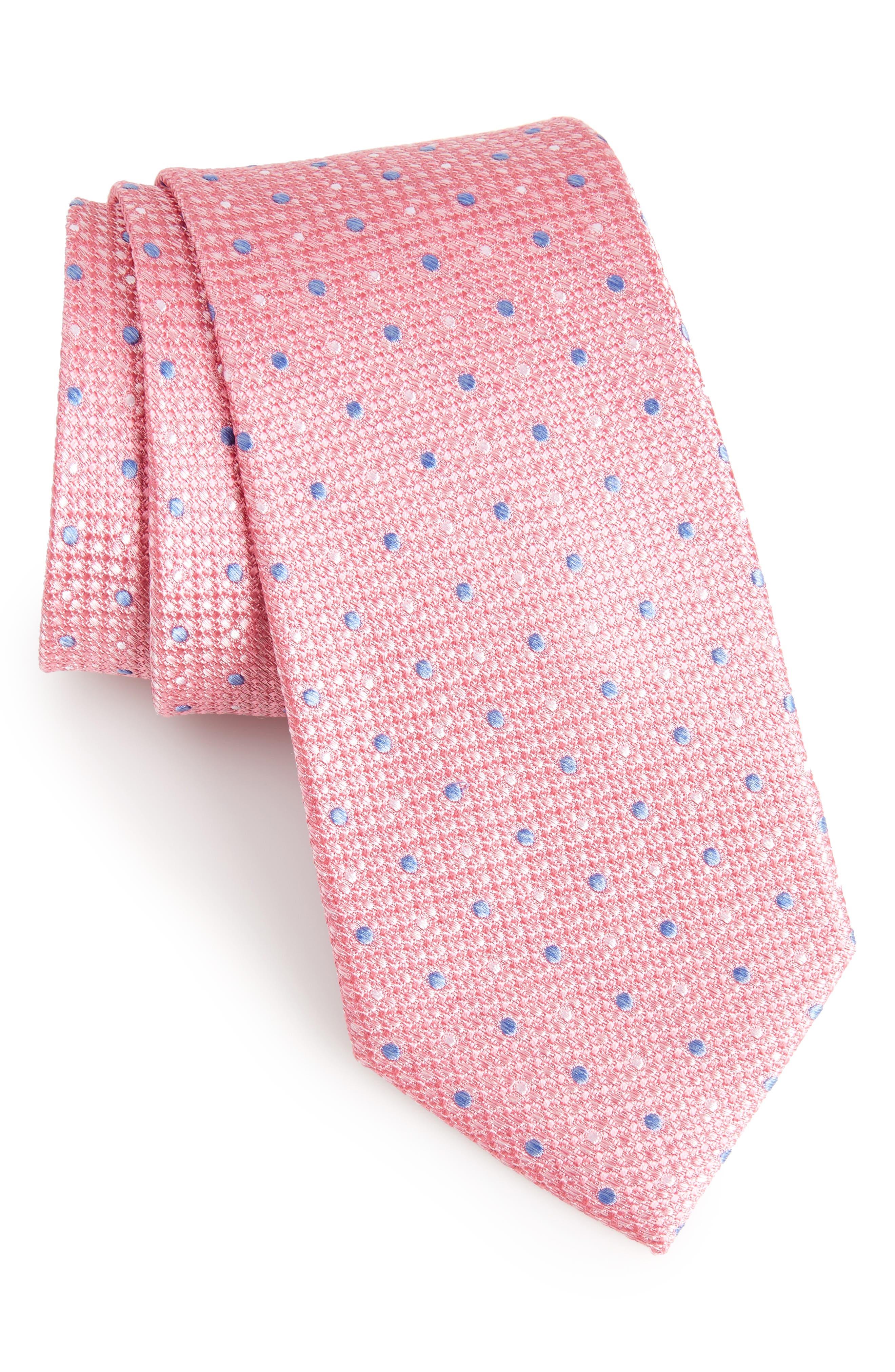 Gest Dot Silk Tie,                             Main thumbnail 7, color,
