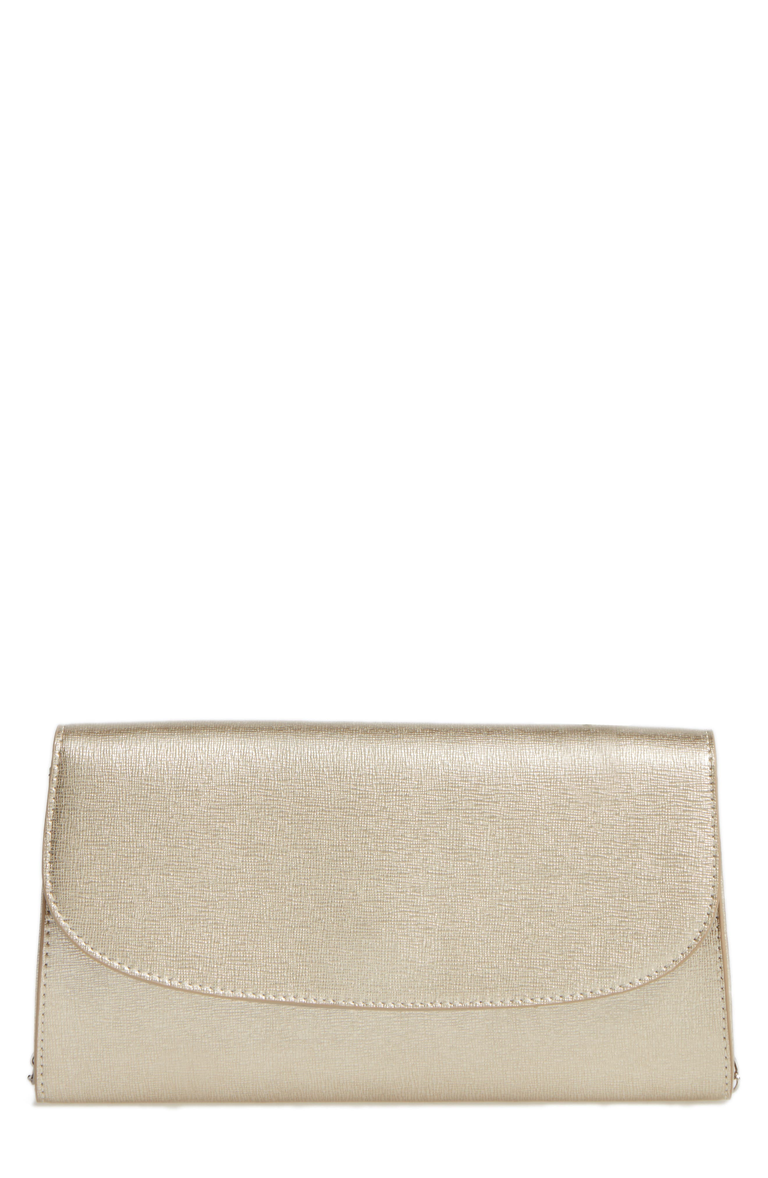 Leather Clutch,                             Main thumbnail 6, color,