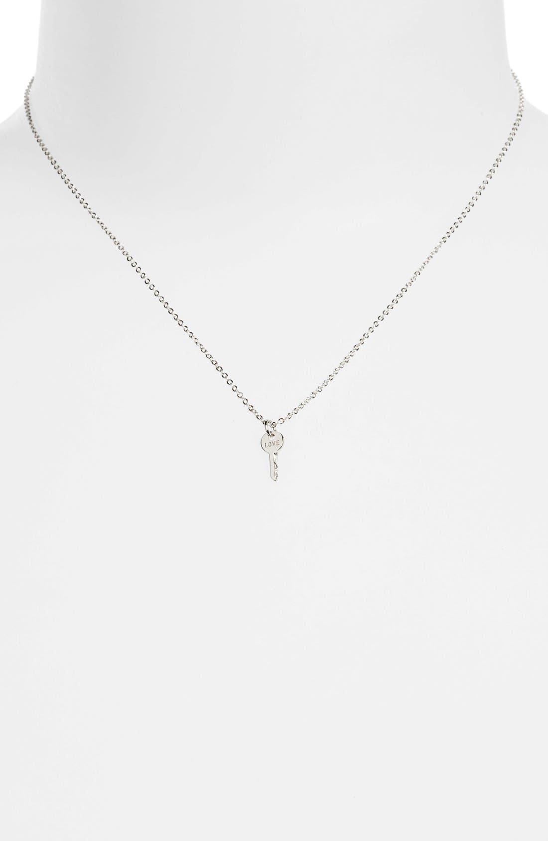 Love Mini Key Necklace,                         Main,                         color, 040