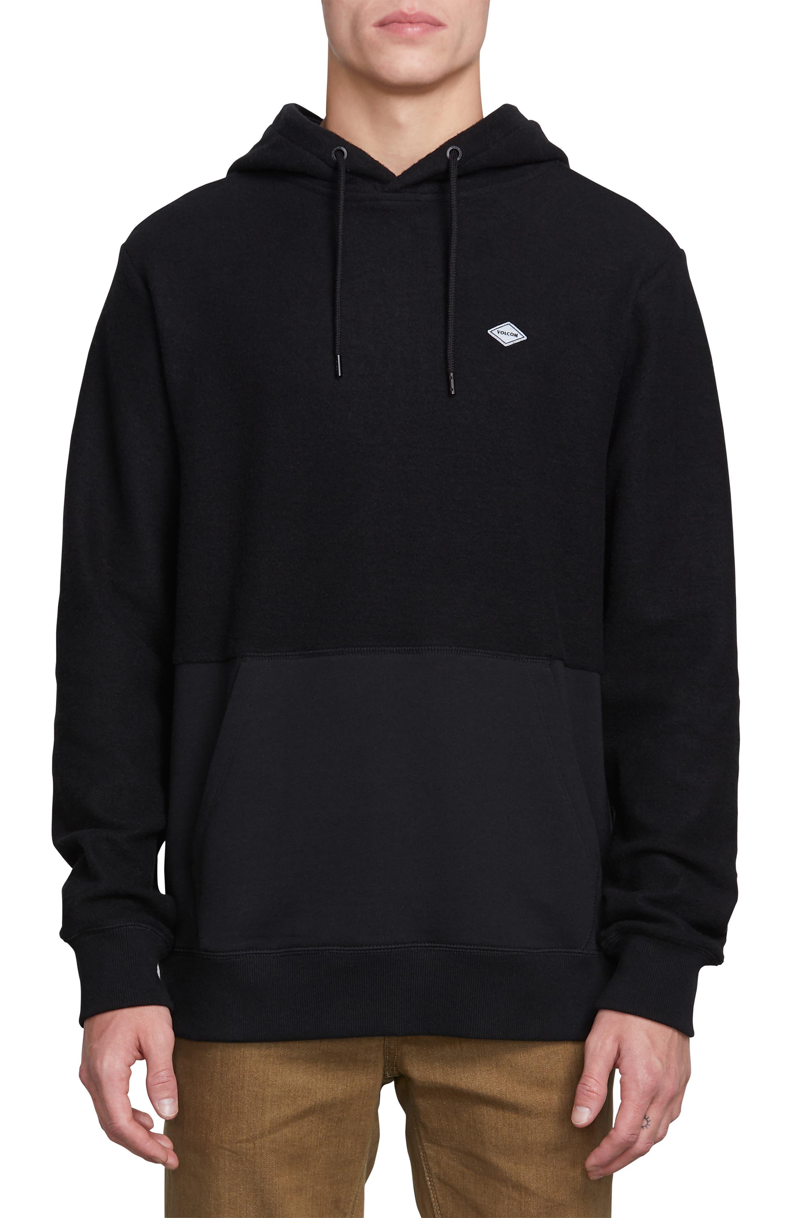 Single Stone Subdivision Hoodie Sweatshirt,                             Main thumbnail 1, color,                             BLACK