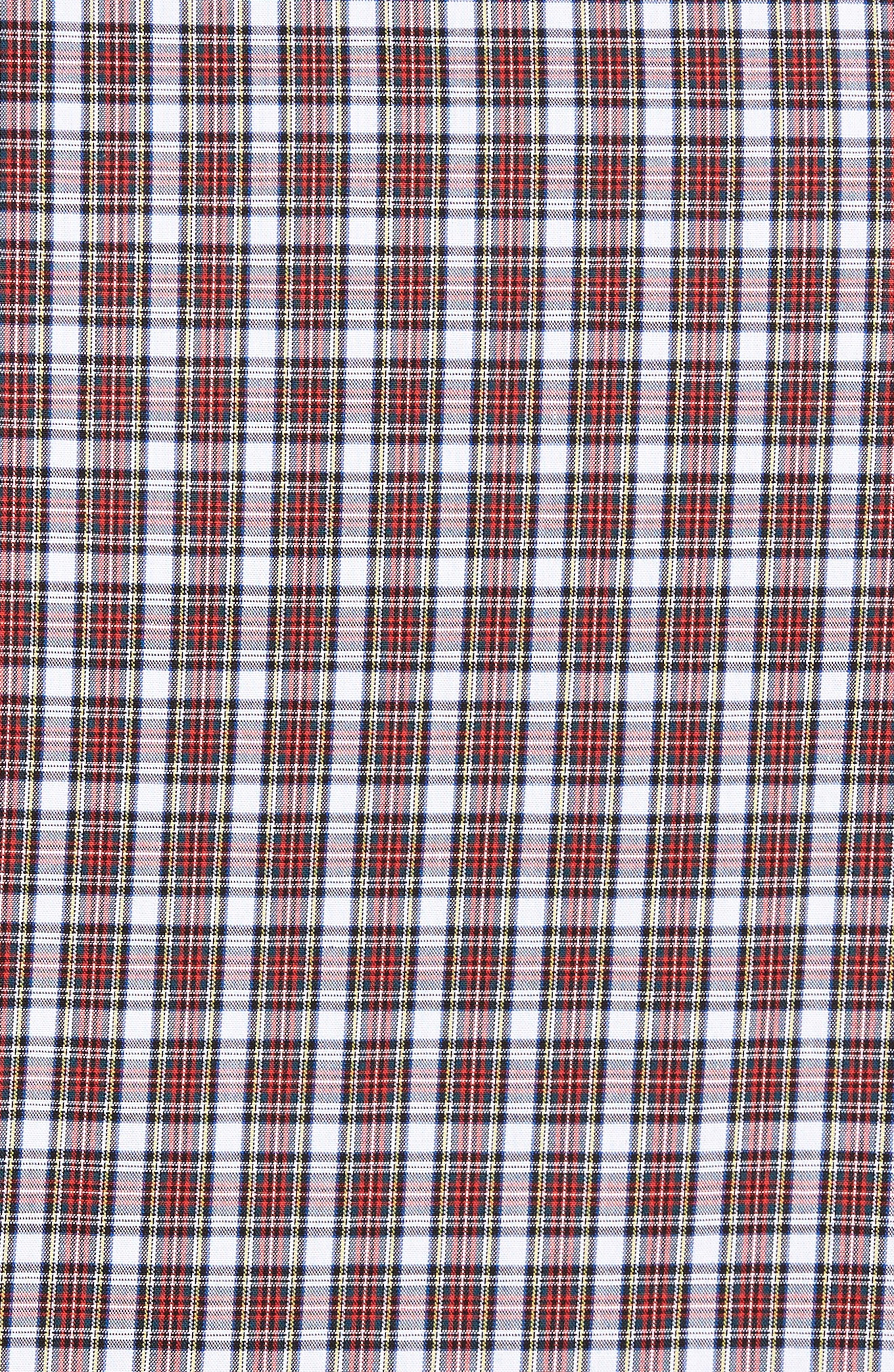 Ivy Trim Fit Non-Iron Tartan Plaid Sport Shirt,                             Alternate thumbnail 5, color,