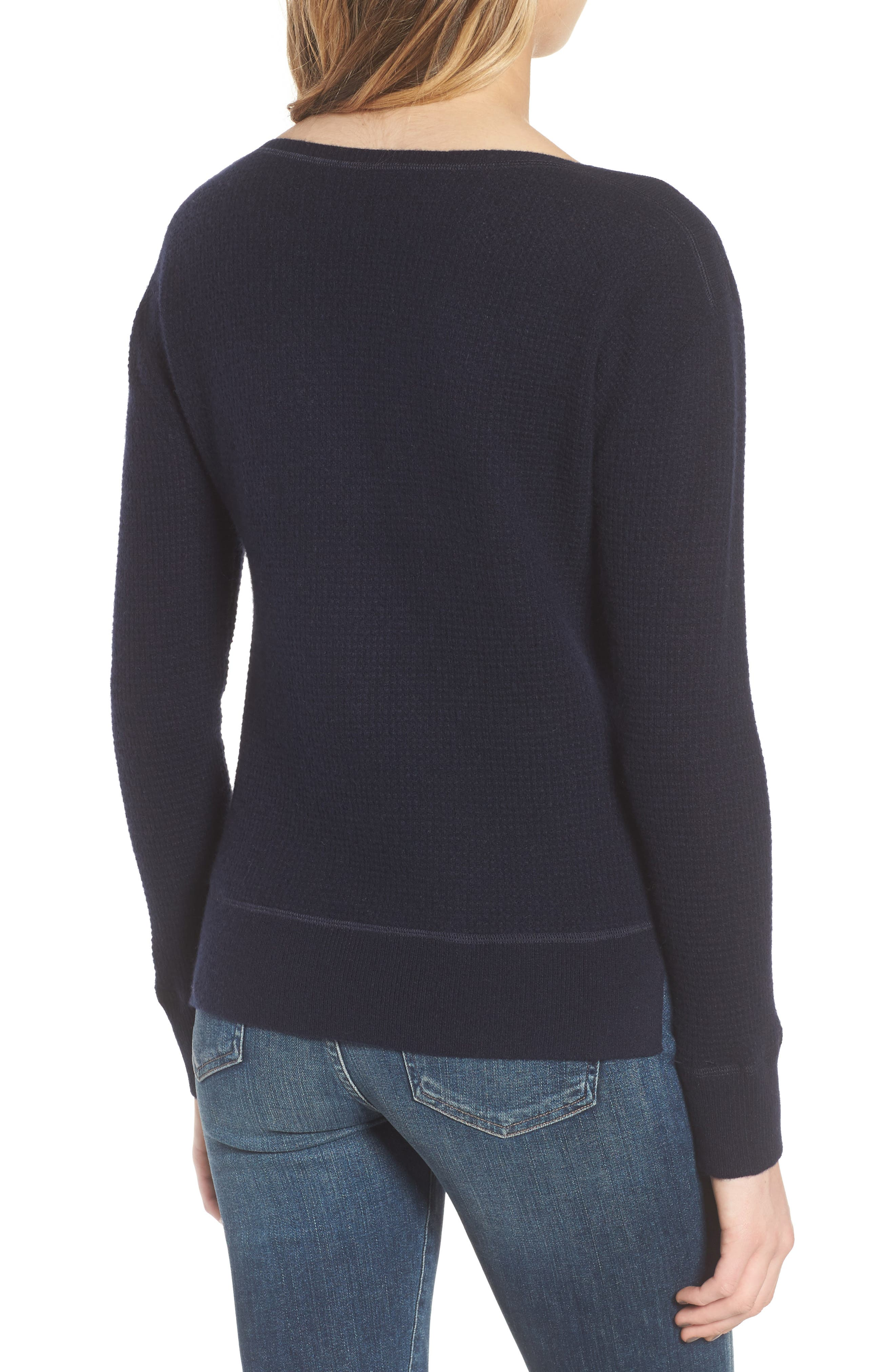 Thermal Cashmere Top,                             Alternate thumbnail 4, color,