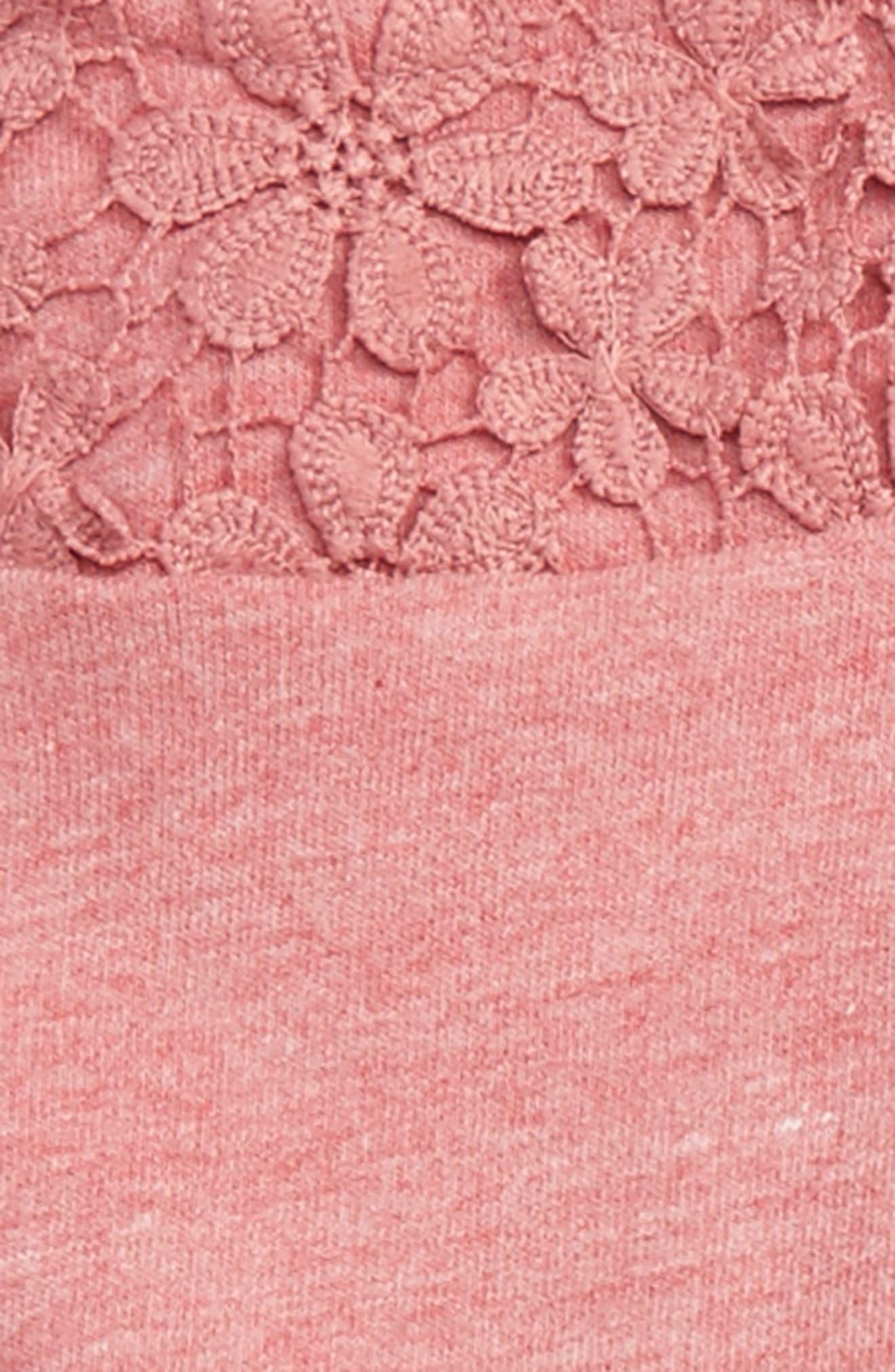HUDSON KIDS,                             Crochet Pullover, Denim Skirt & Leggings Set,                             Alternate thumbnail 3, color,                             430