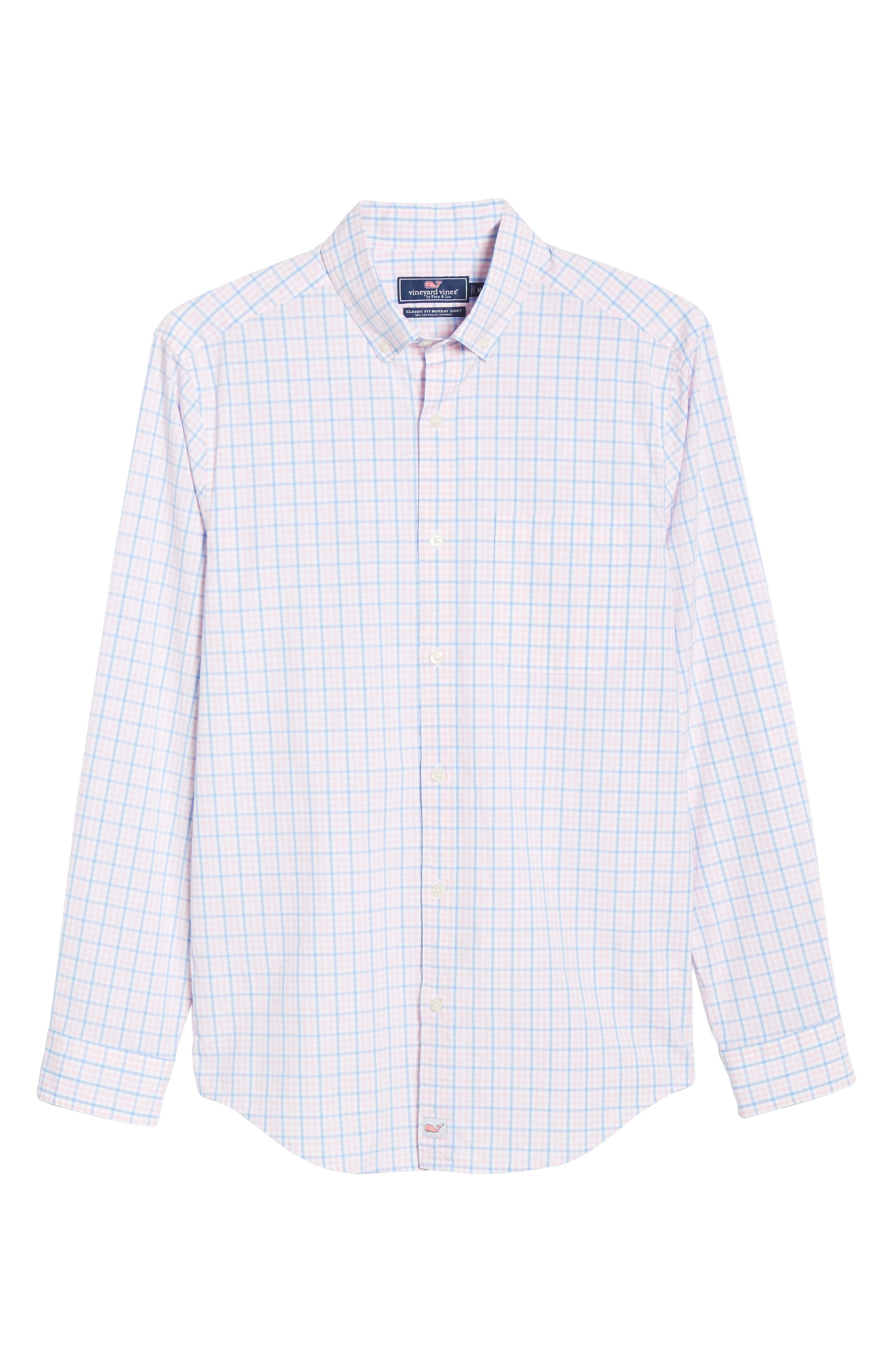 Murray Classic Fit Check Sport Shirt,                             Alternate thumbnail 5, color,                             FLAMINGO