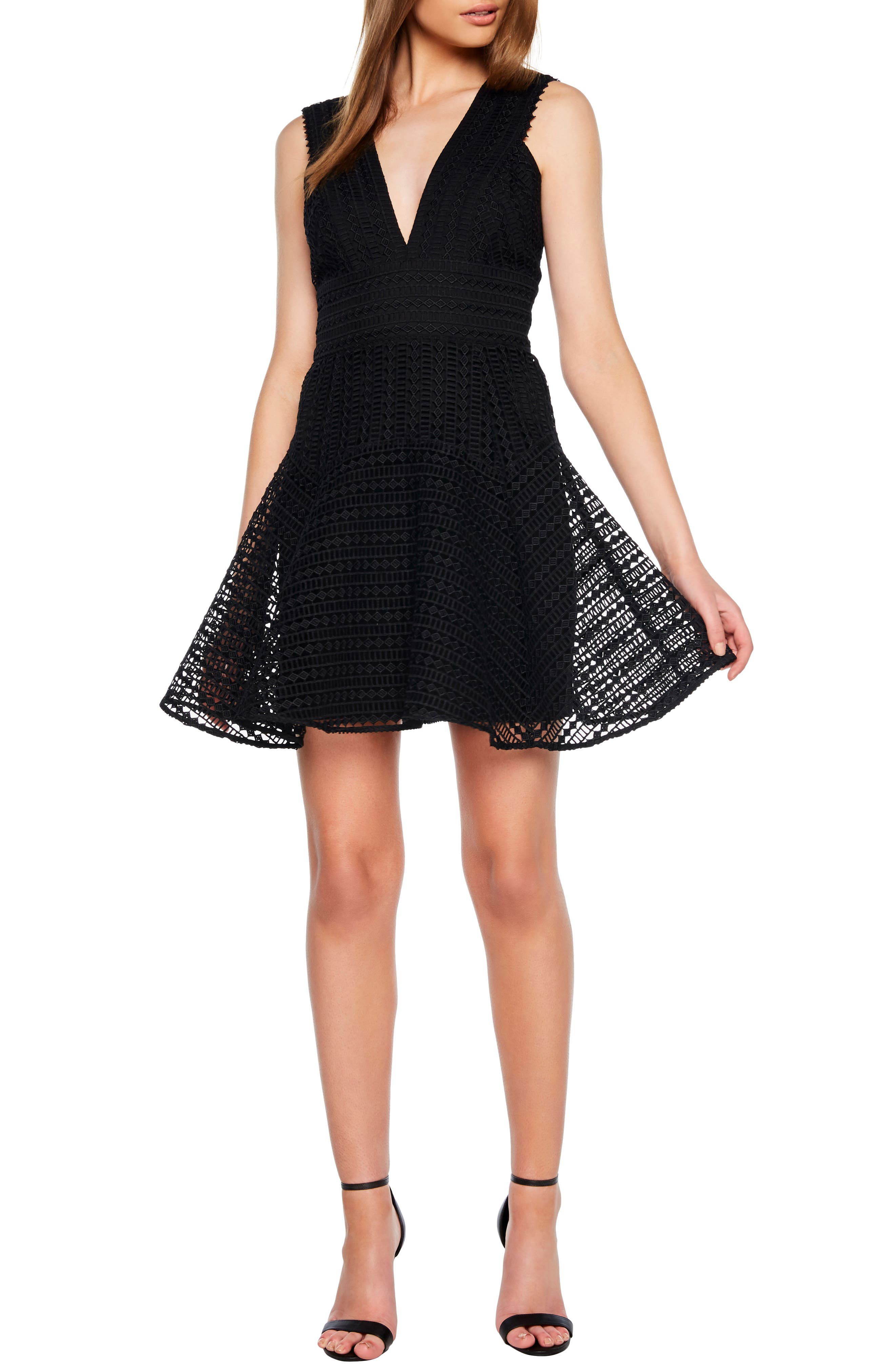Lacey Party Dress in Black