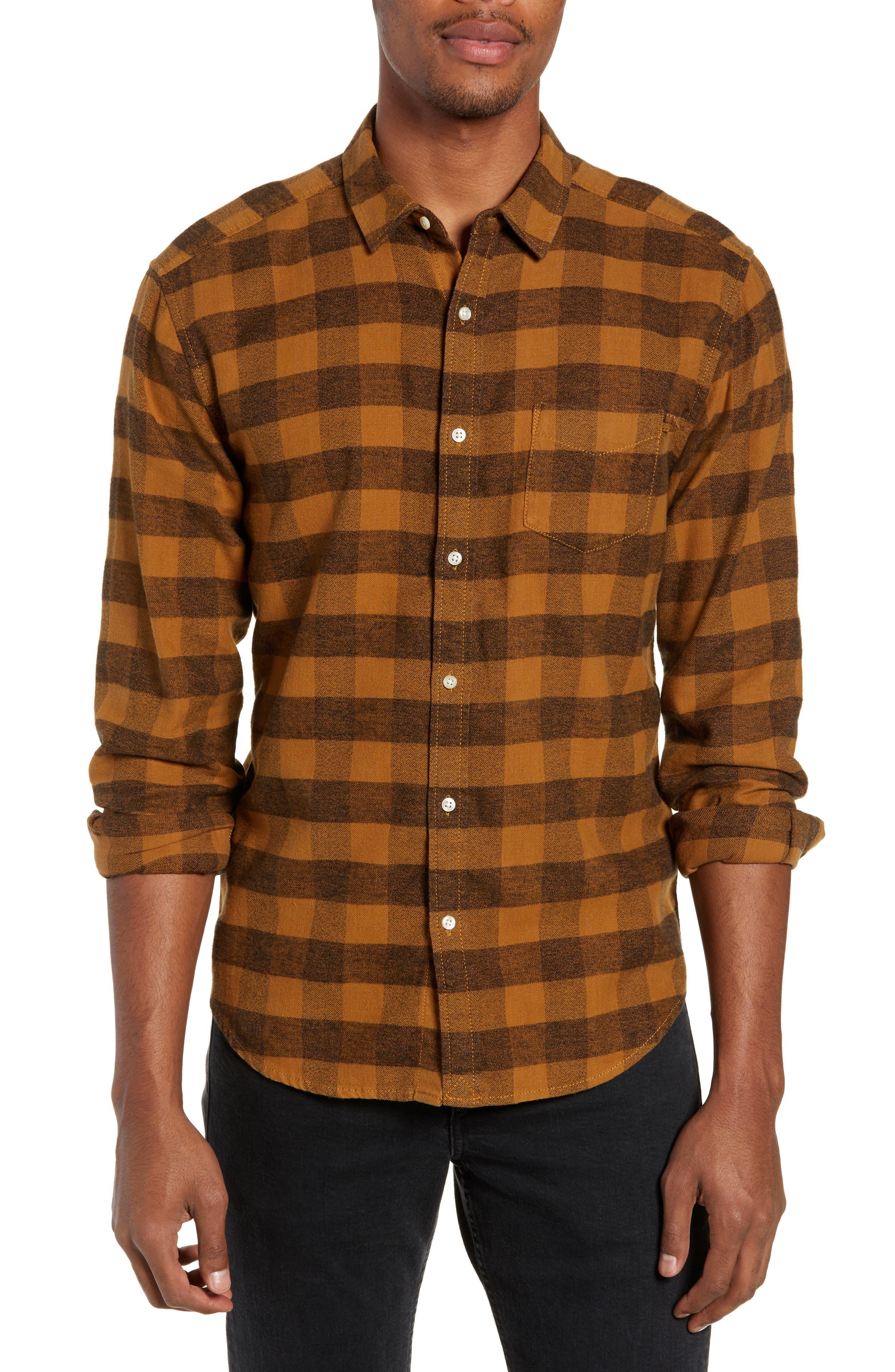 Life/after/denim Allegheny Regular Fit Check Sport Shirt, Yellow