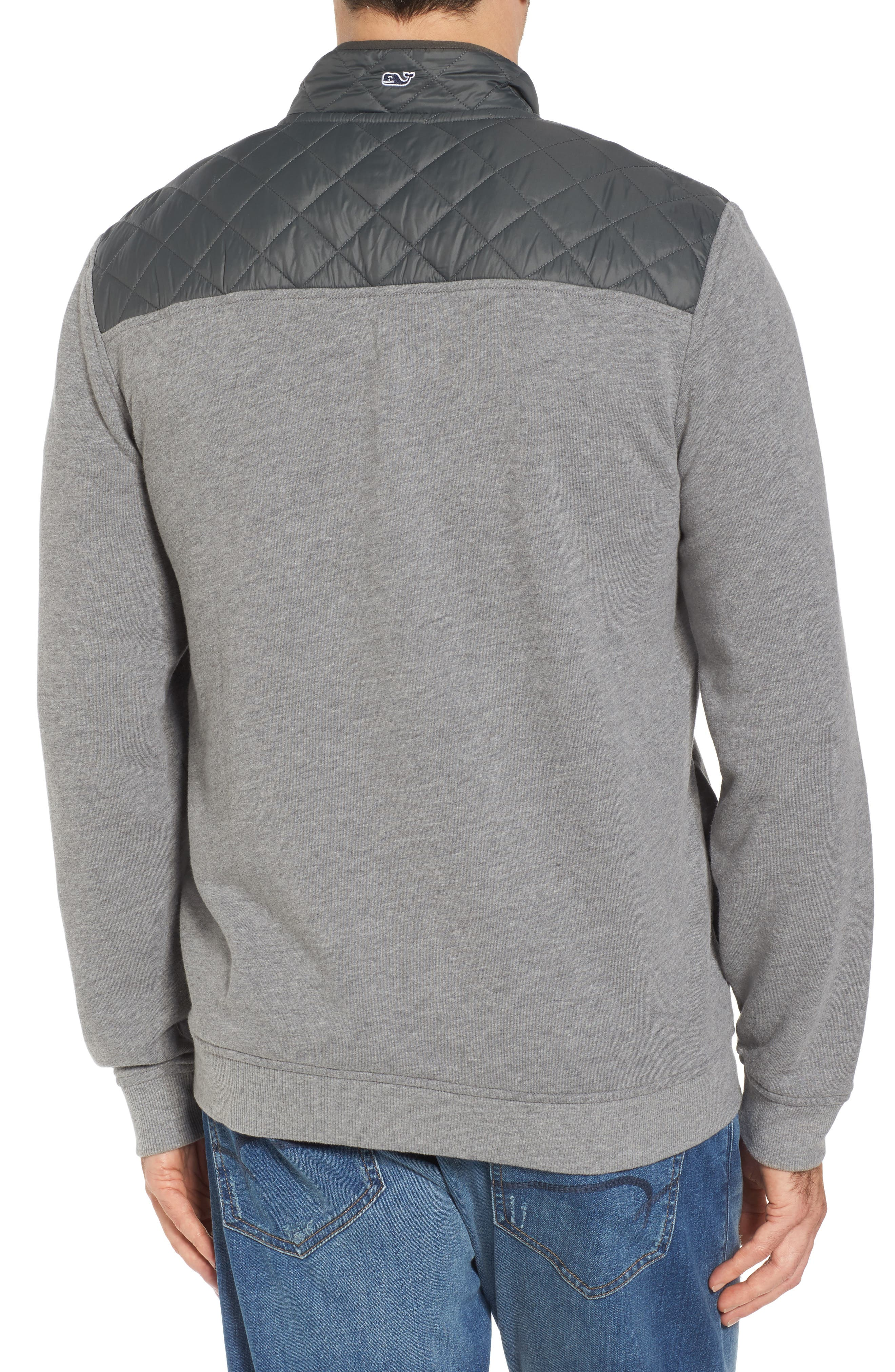 Shep Performance Quilted Yoke Quarter Zip Pullover,                             Alternate thumbnail 2, color,                             030