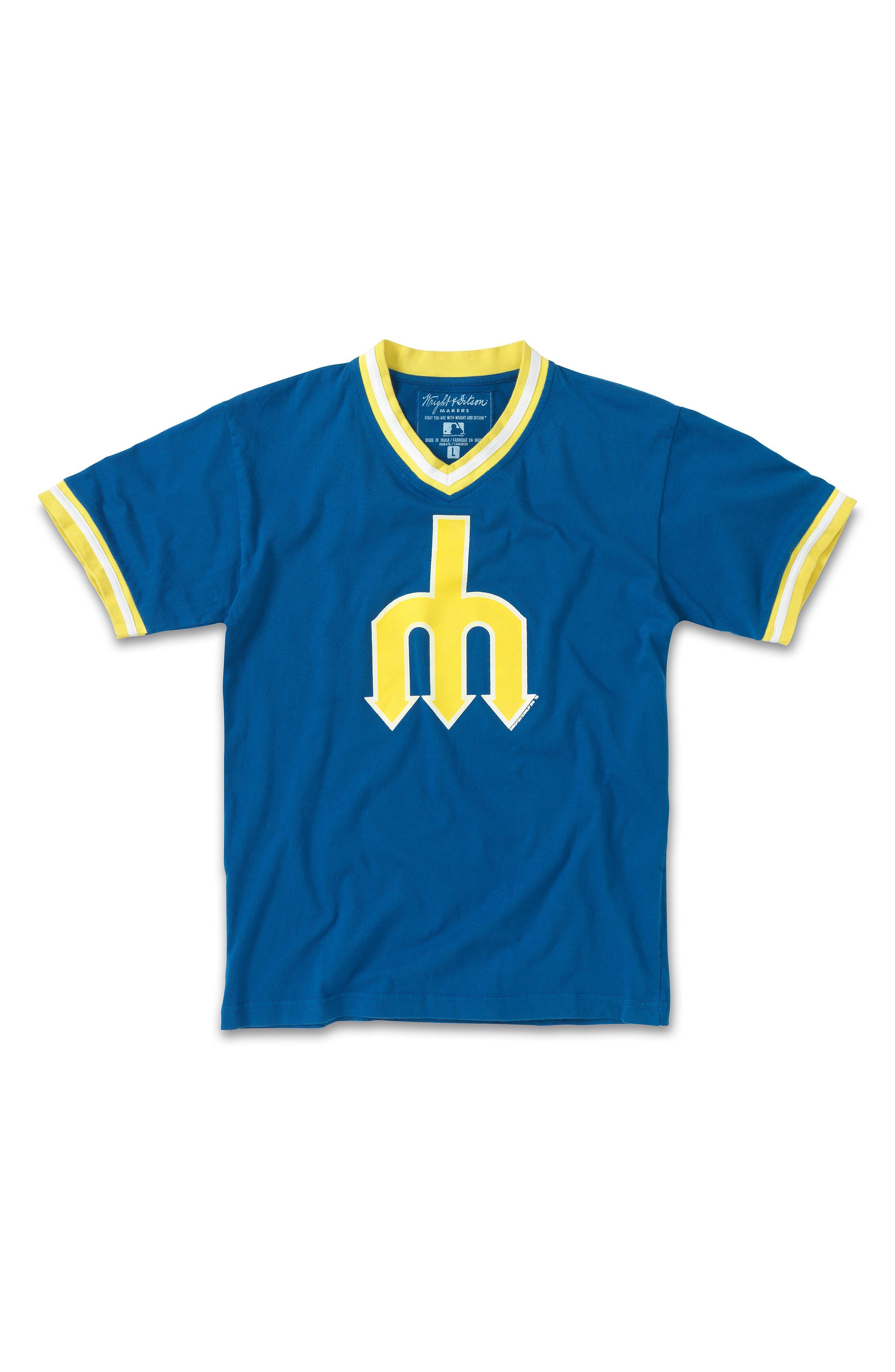 WRIGHT & DITSON,                             Seattle Mariners T-Shirt,                             Main thumbnail 1, color,                             409