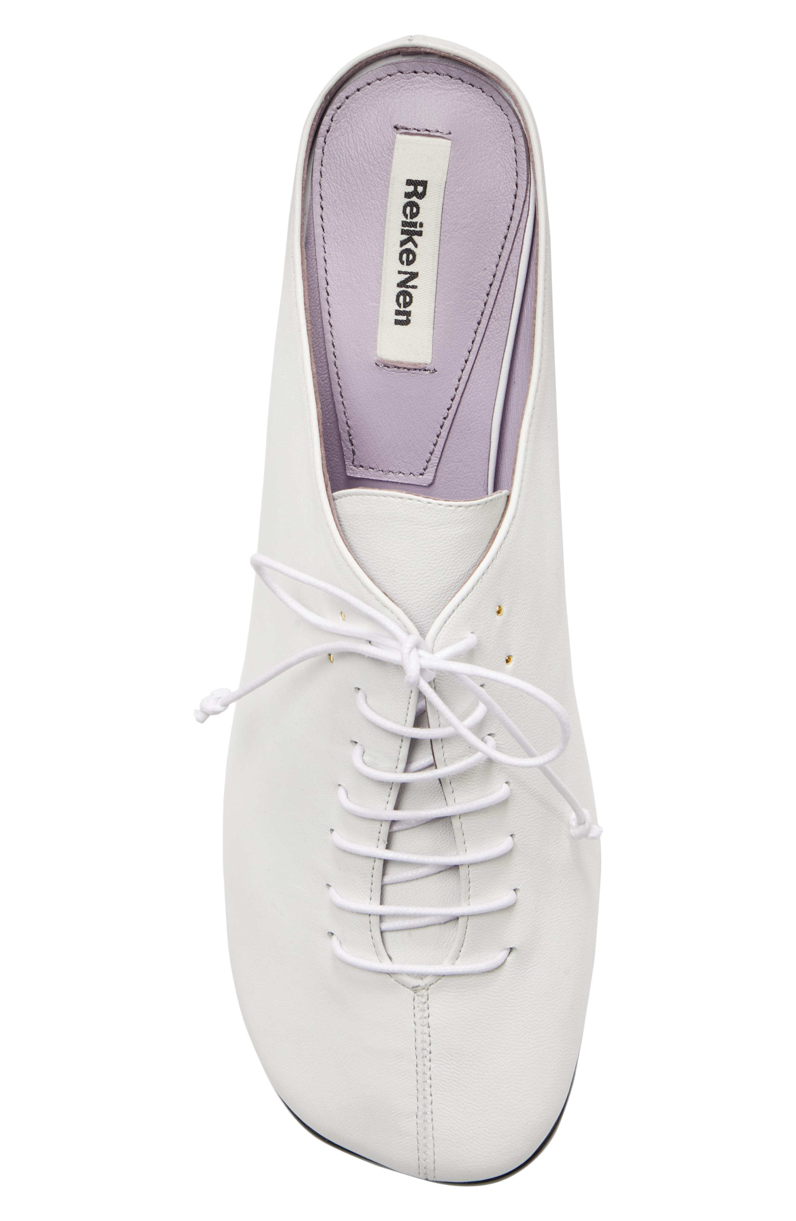 Wide Lace-Up Mule,                             Alternate thumbnail 5, color,                             WHITE