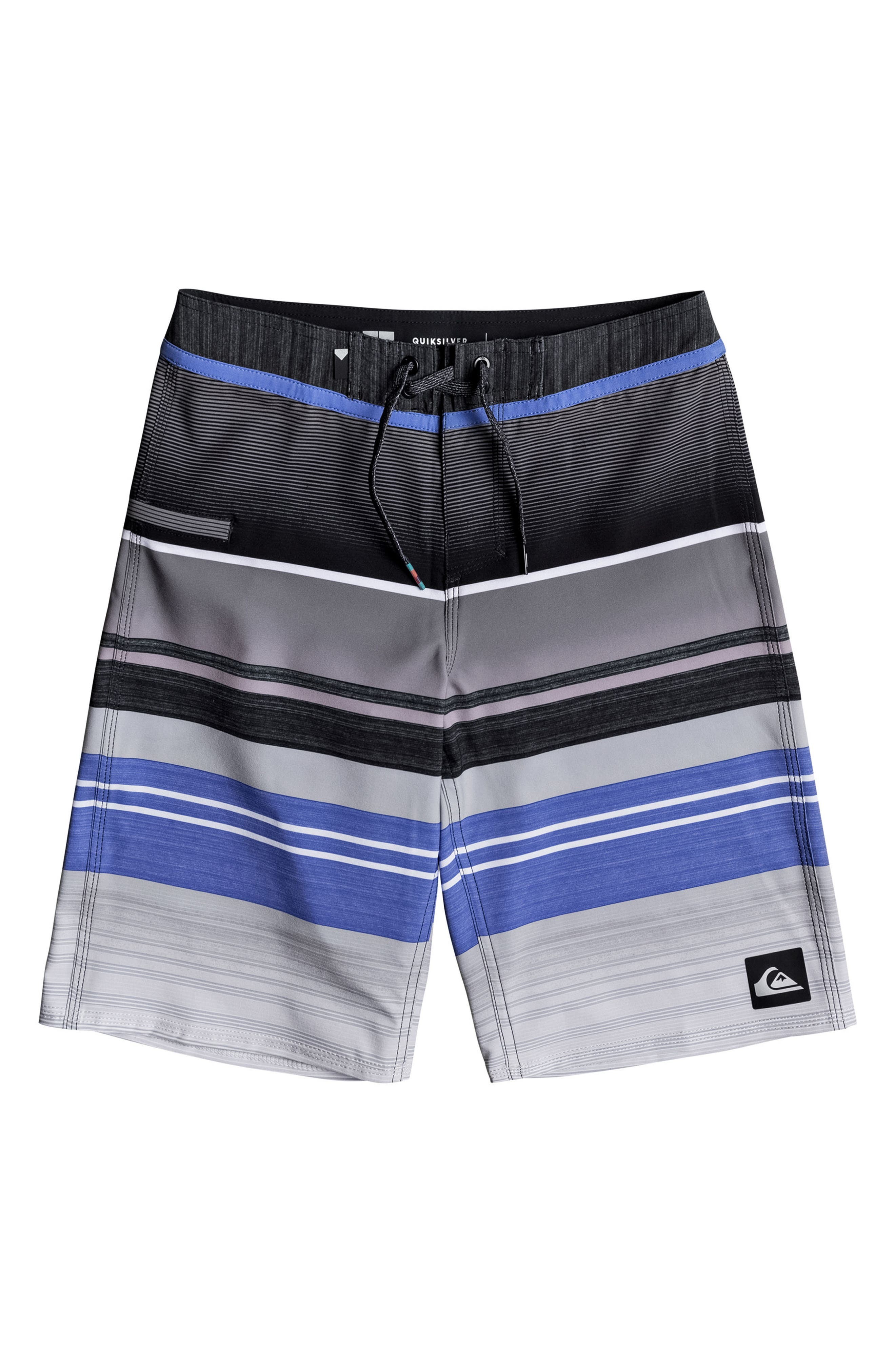 Everyday Stripe Vee Board Shorts,                             Main thumbnail 4, color,