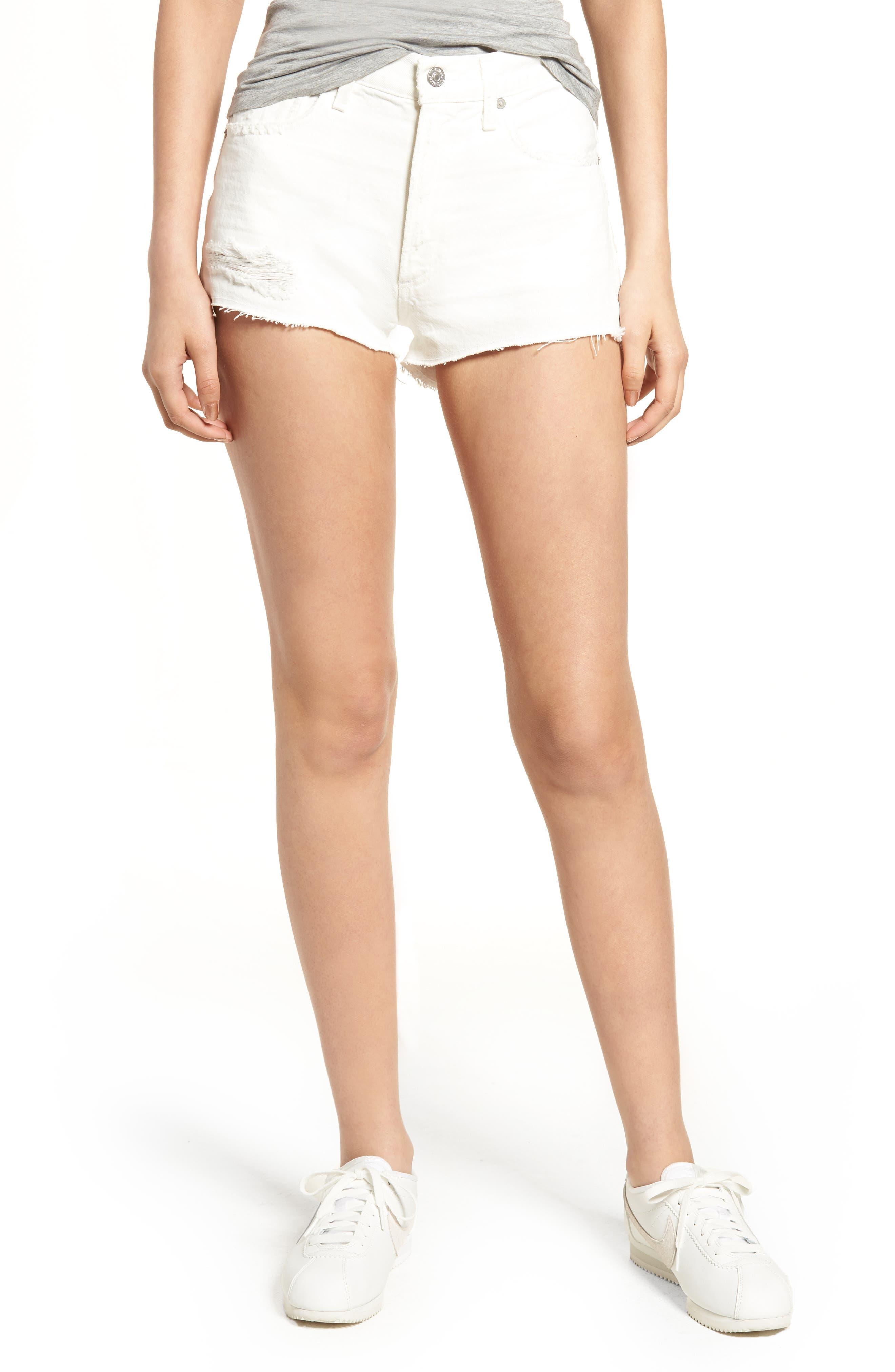 Danielle Cutoff Denim Shorts,                             Main thumbnail 1, color,