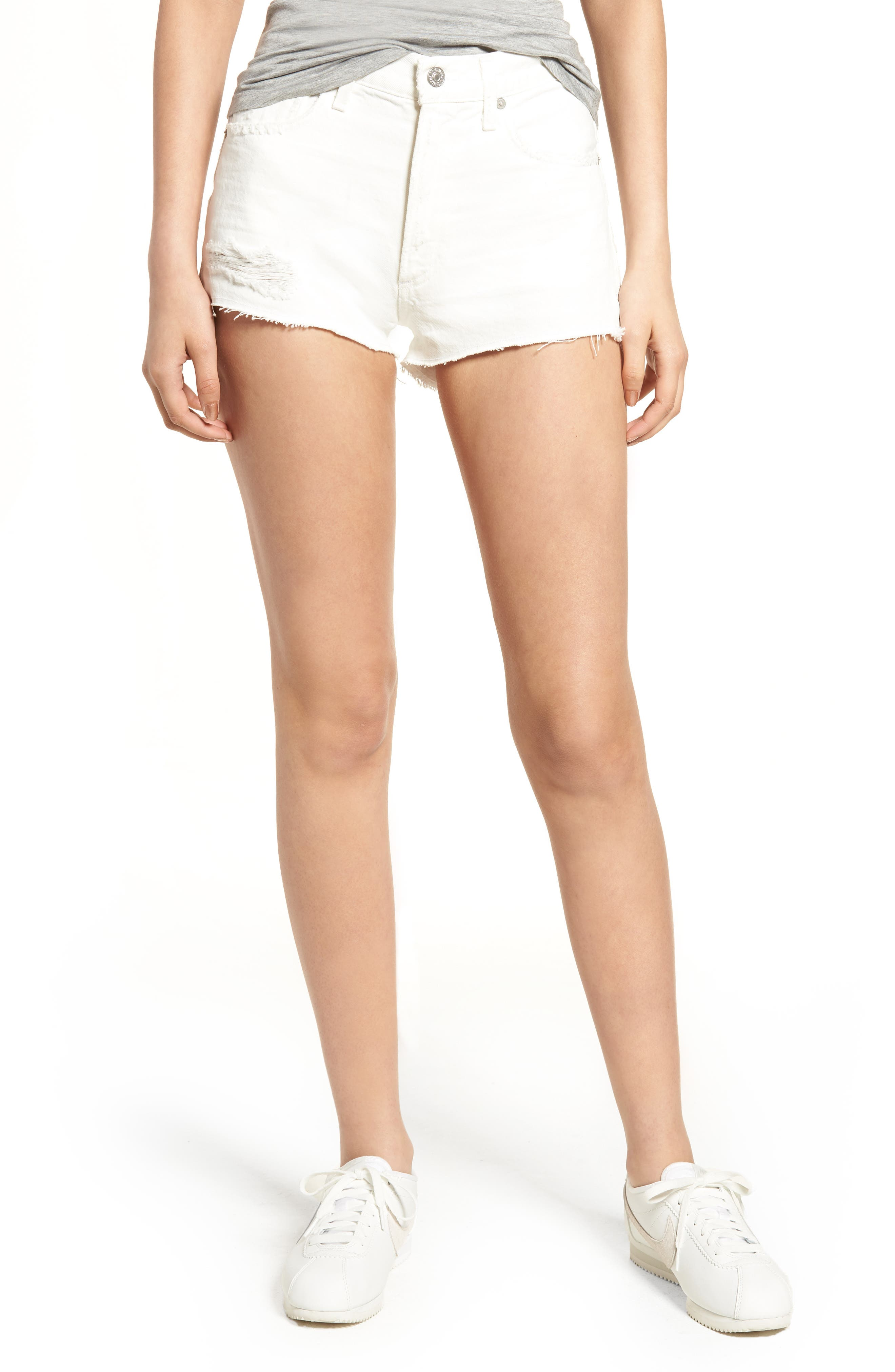 Danielle Cutoff Denim Shorts,                         Main,                         color,