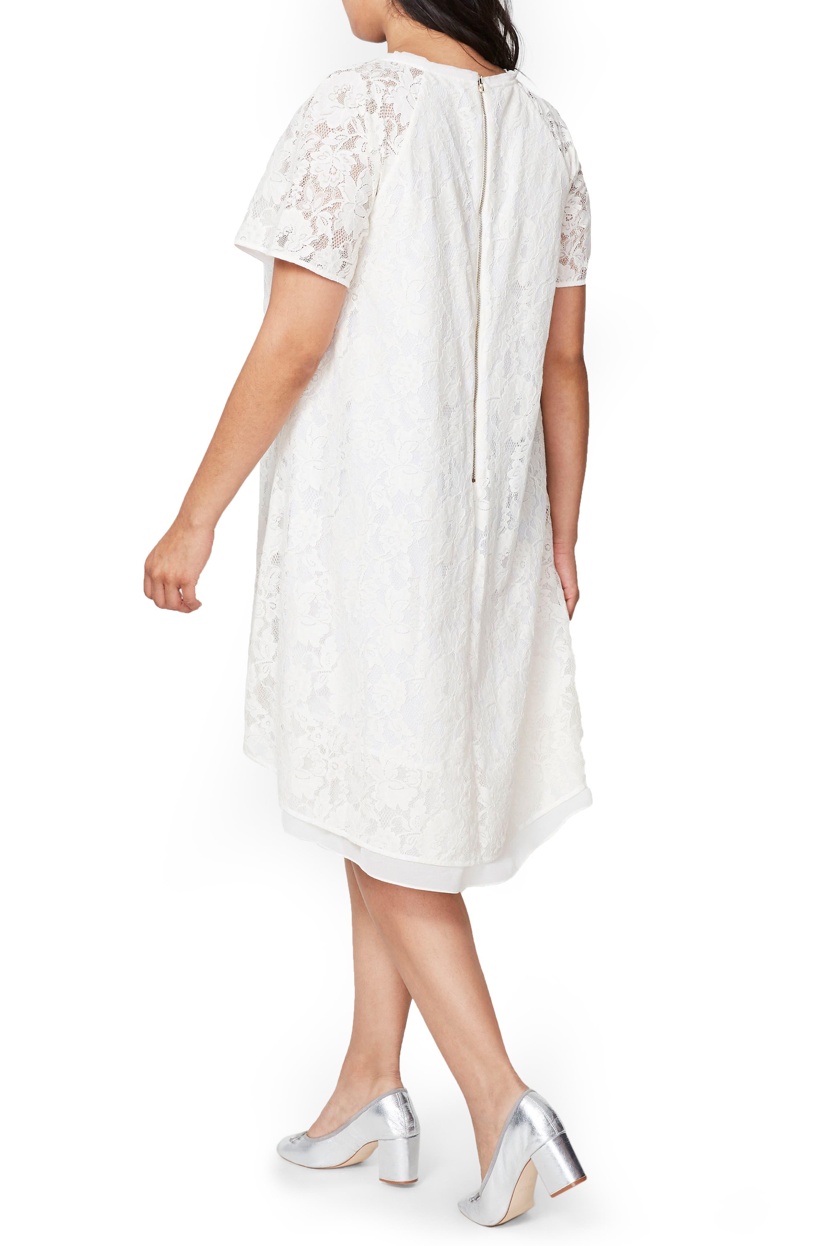A-Line Lace Dress,                             Alternate thumbnail 3, color,
