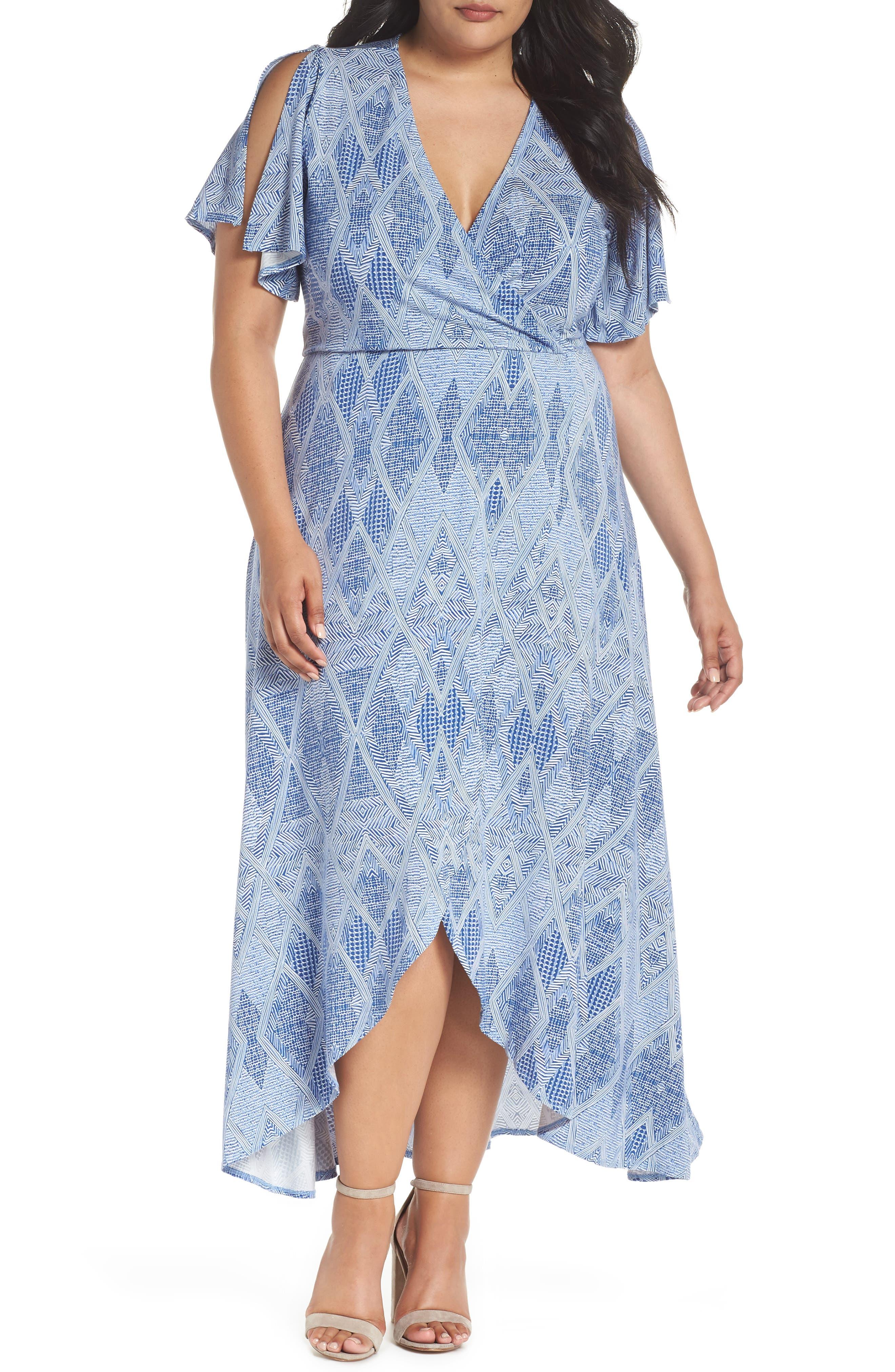 Plus Size Tart Nolan Maxi Dress, Blue