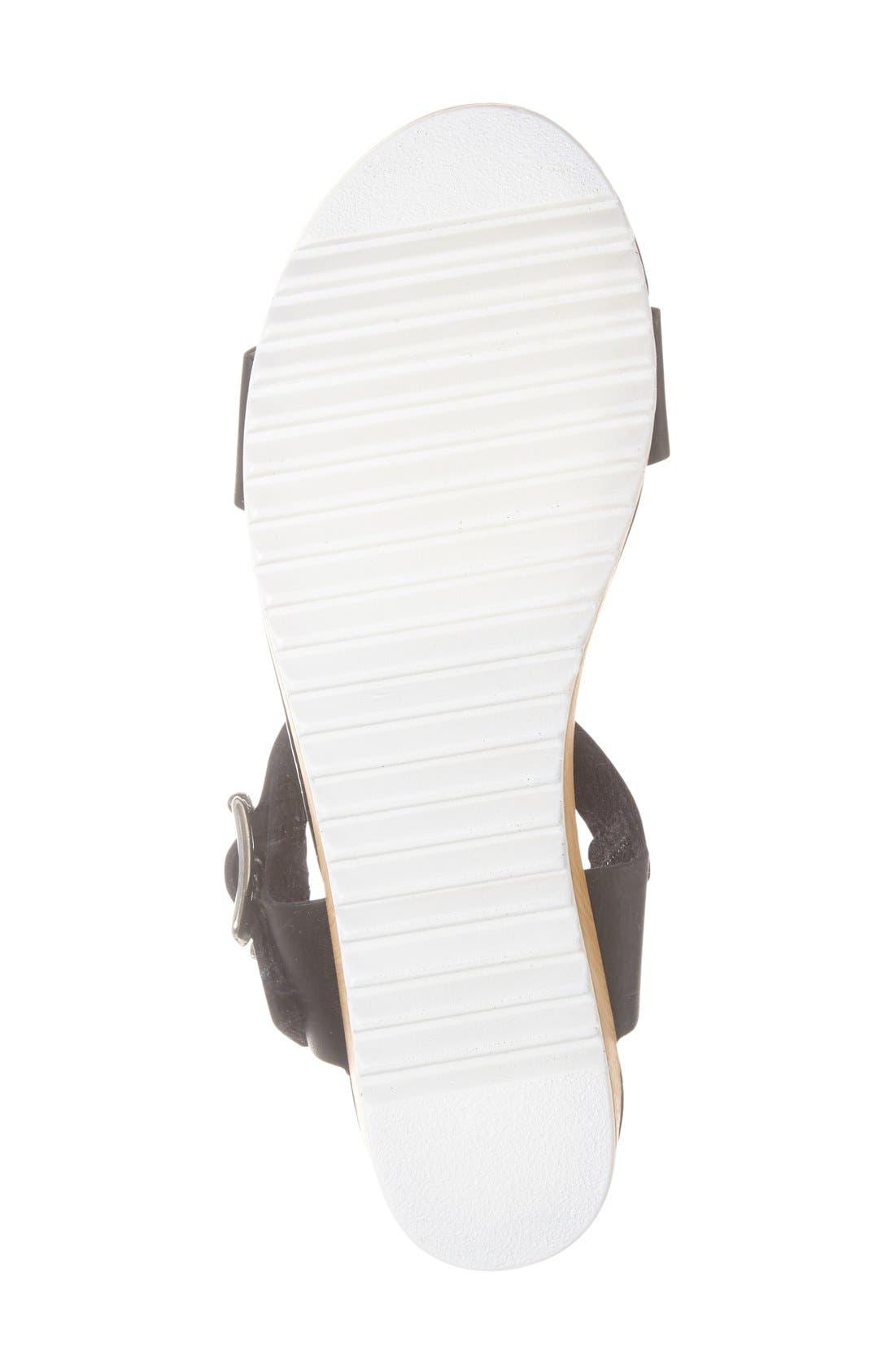 'Nylee' Platform Sandal,                             Alternate thumbnail 3, color,                             001