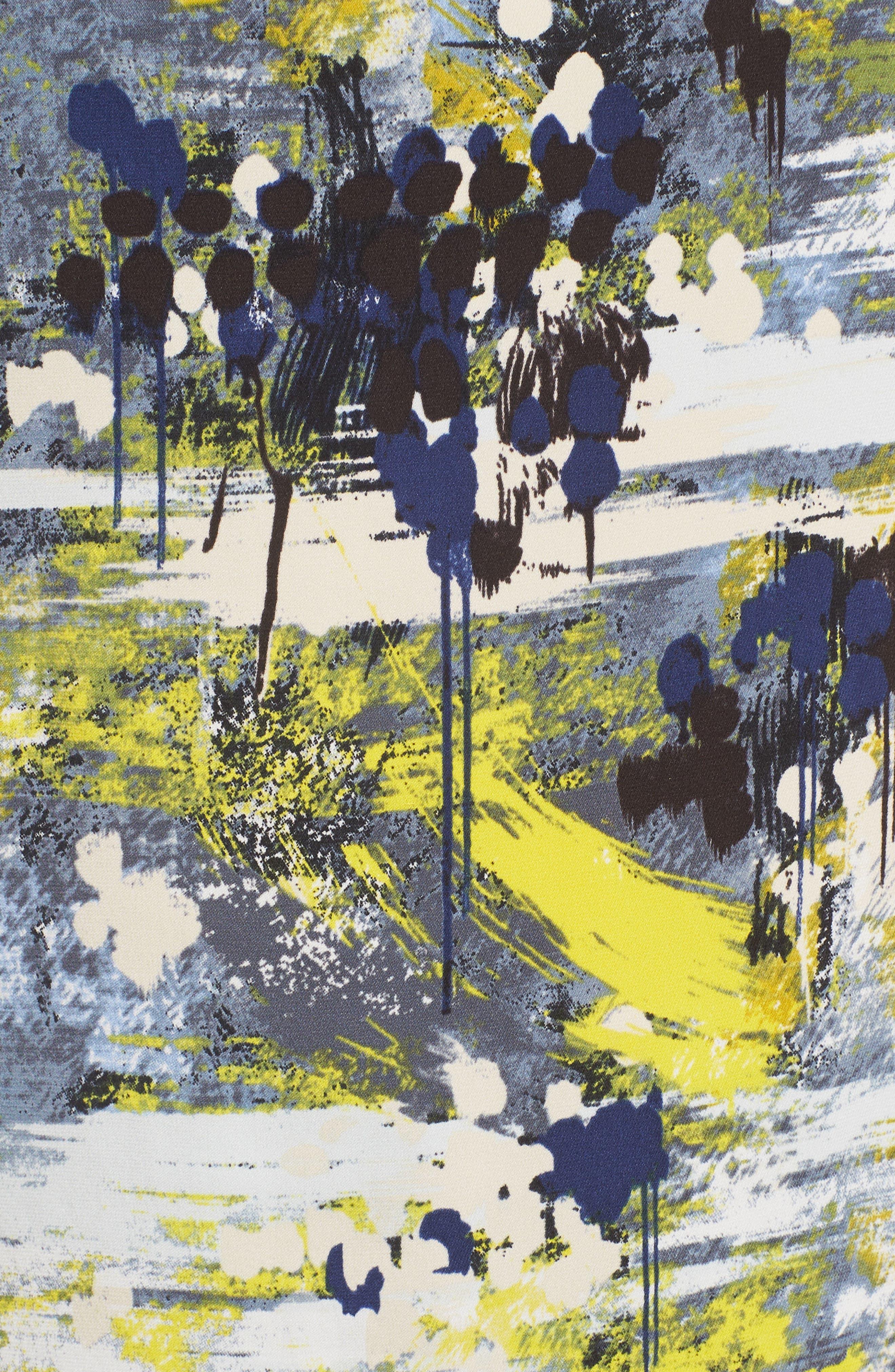 Drape Back Silk Blend Top,                             Alternate thumbnail 5, color,