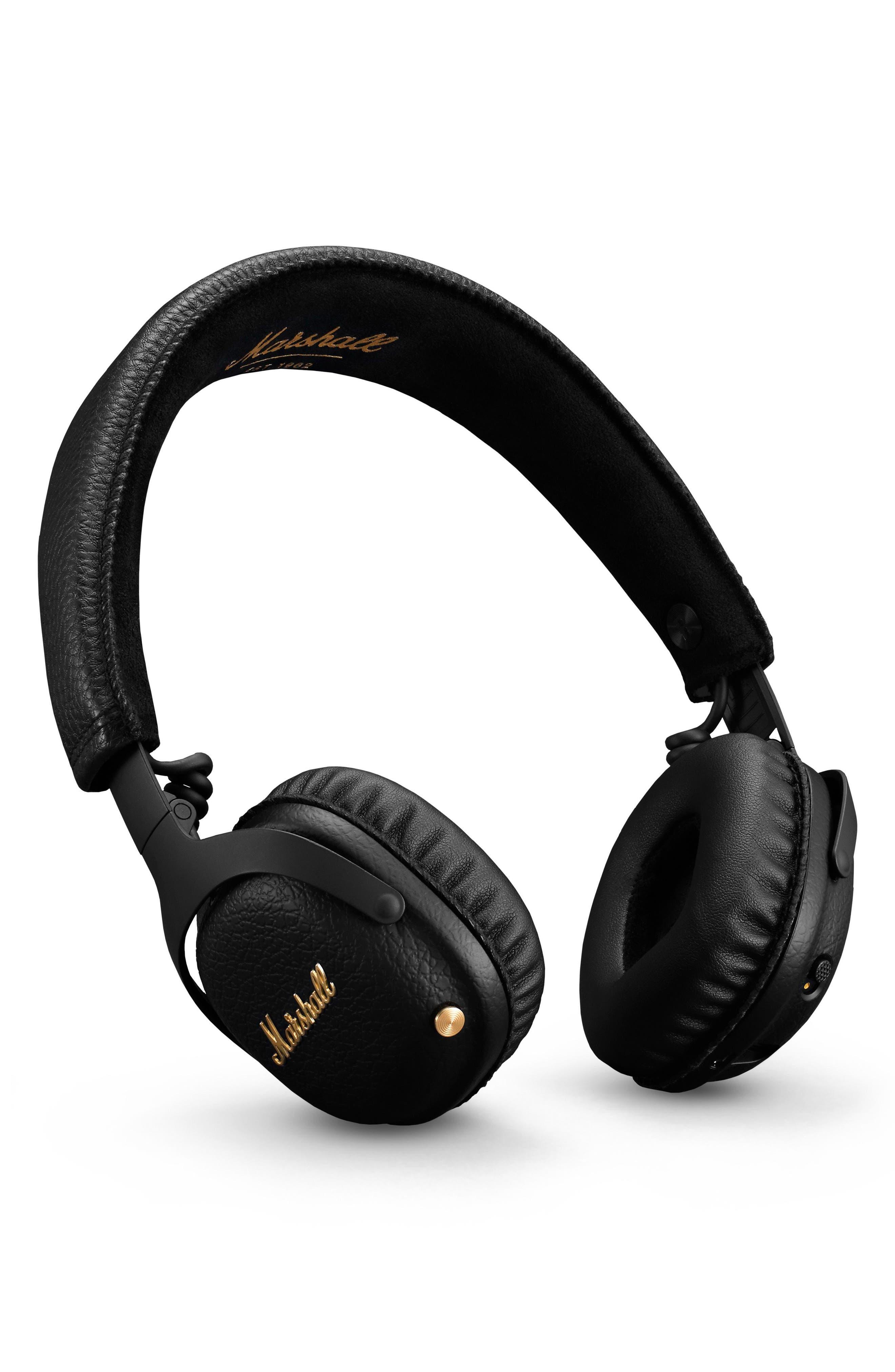 MID ANC Bluetooth<sup>®</sup> On-Ear Headphones,                             Alternate thumbnail 4, color,                             BLACK